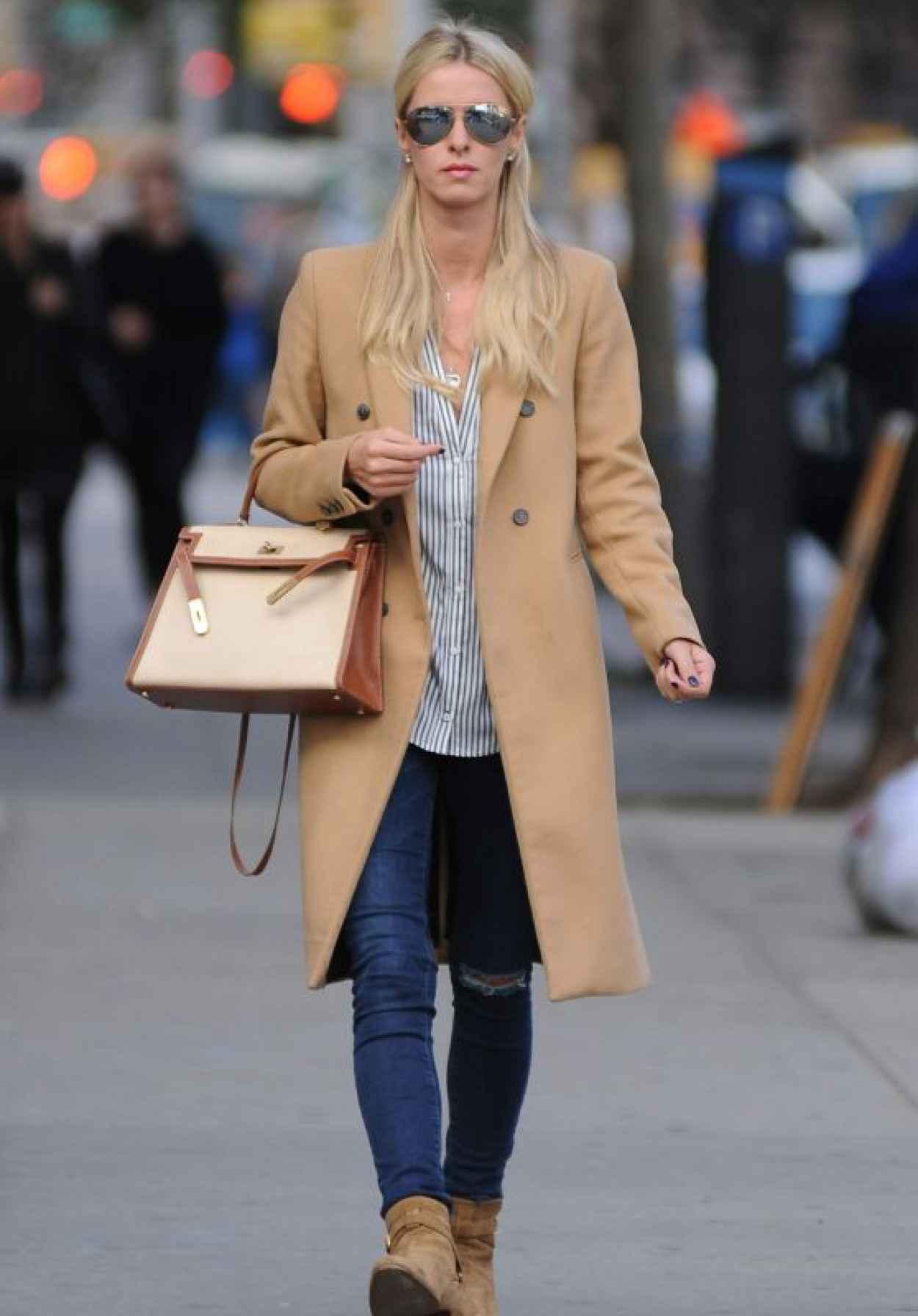 Nicky Hilton Rothschild Street Style - New York City, October 2015-1