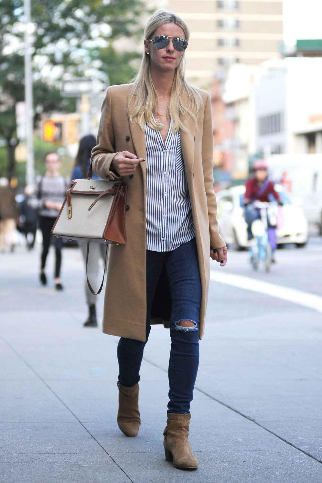 Nicky Hilton Rothschild Street Style New York City