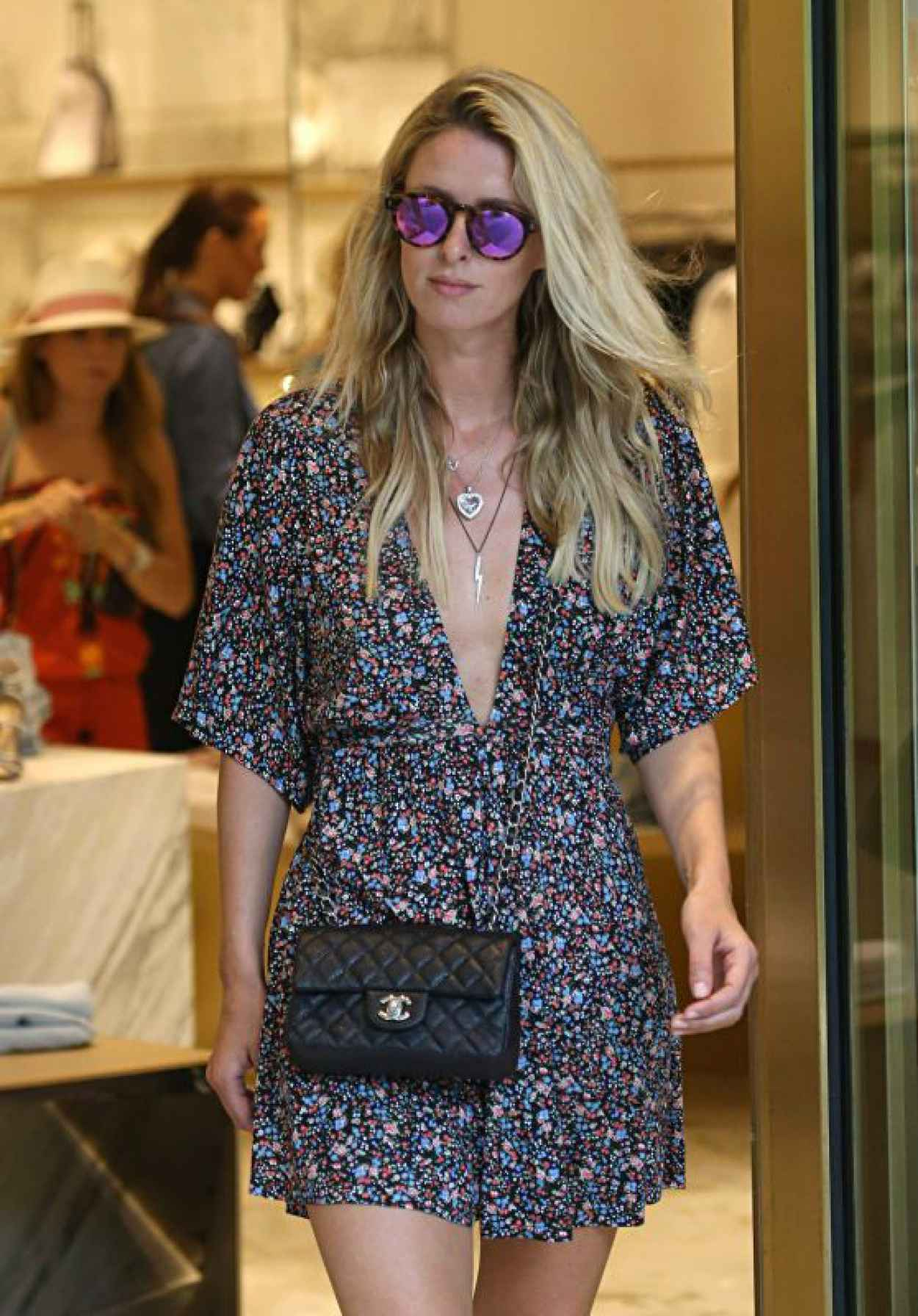 Nicky Hilton Shopping With a Friend at Bal Harbour Mall in Miami, June 2015-1
