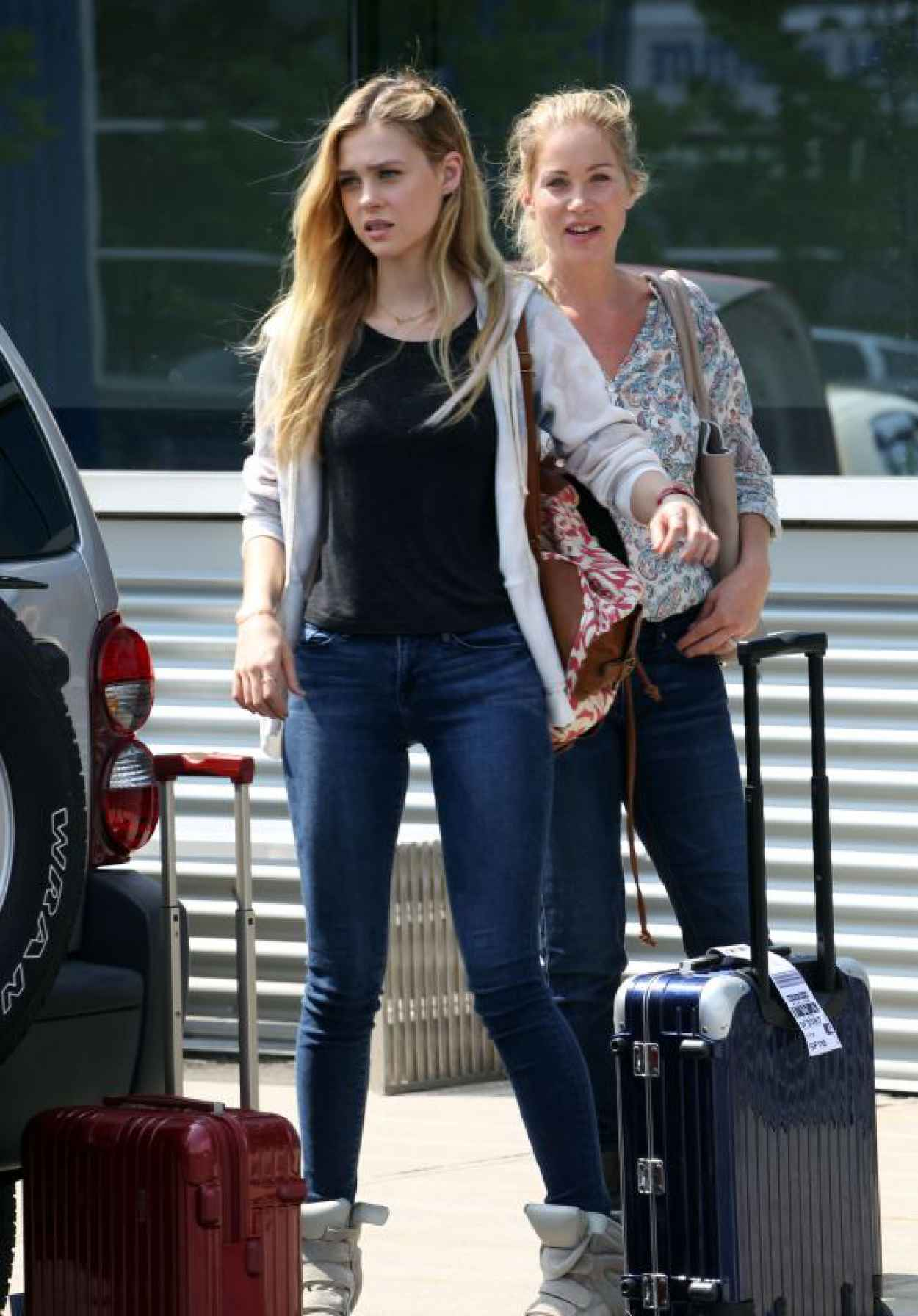 Nicola Peltz and Christina Applegate on the set of Youth in New York City-1