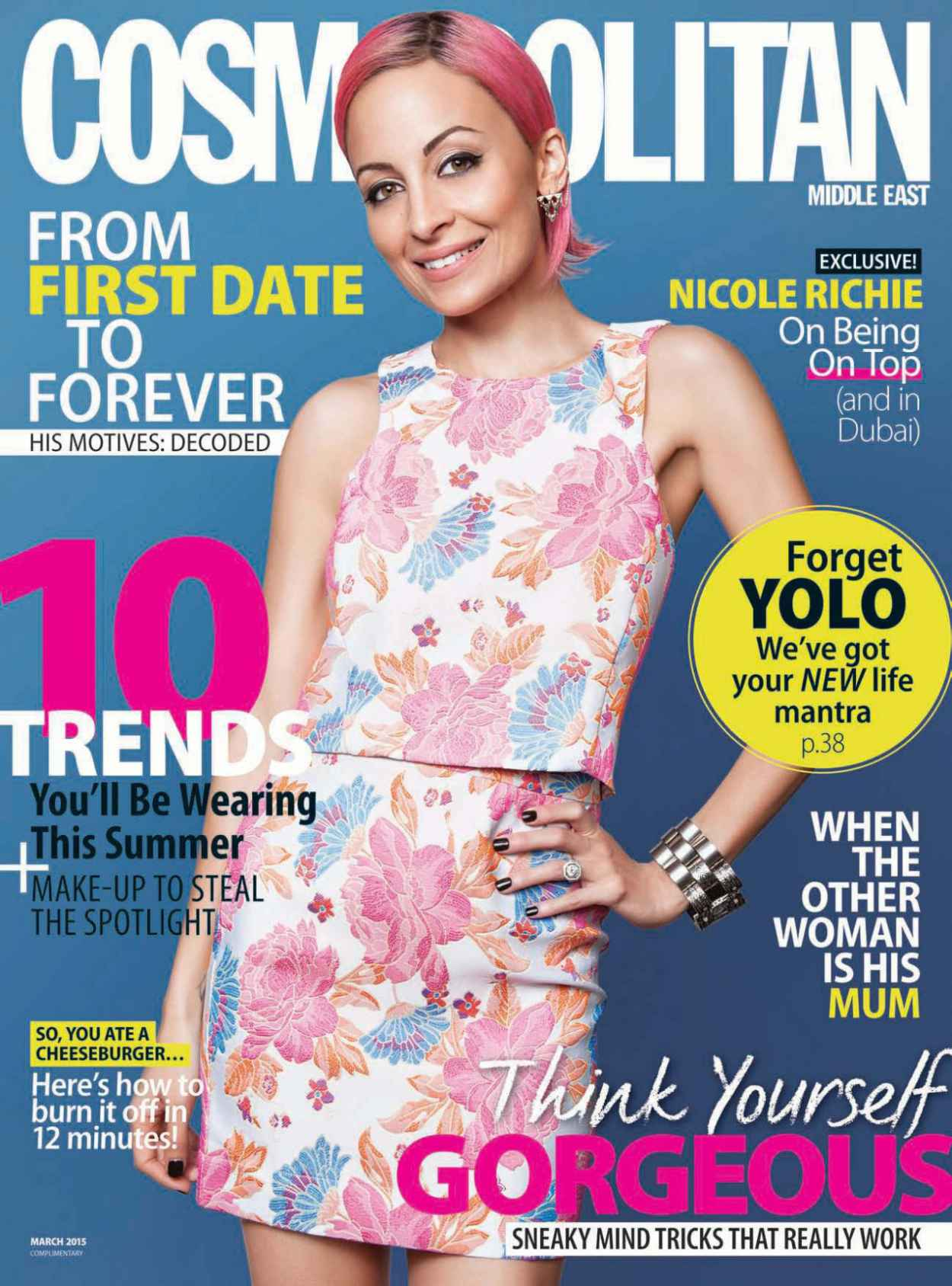 Nicole Richie - Cosmopolitan Magazine (Middle East) March 2015 Issue-1