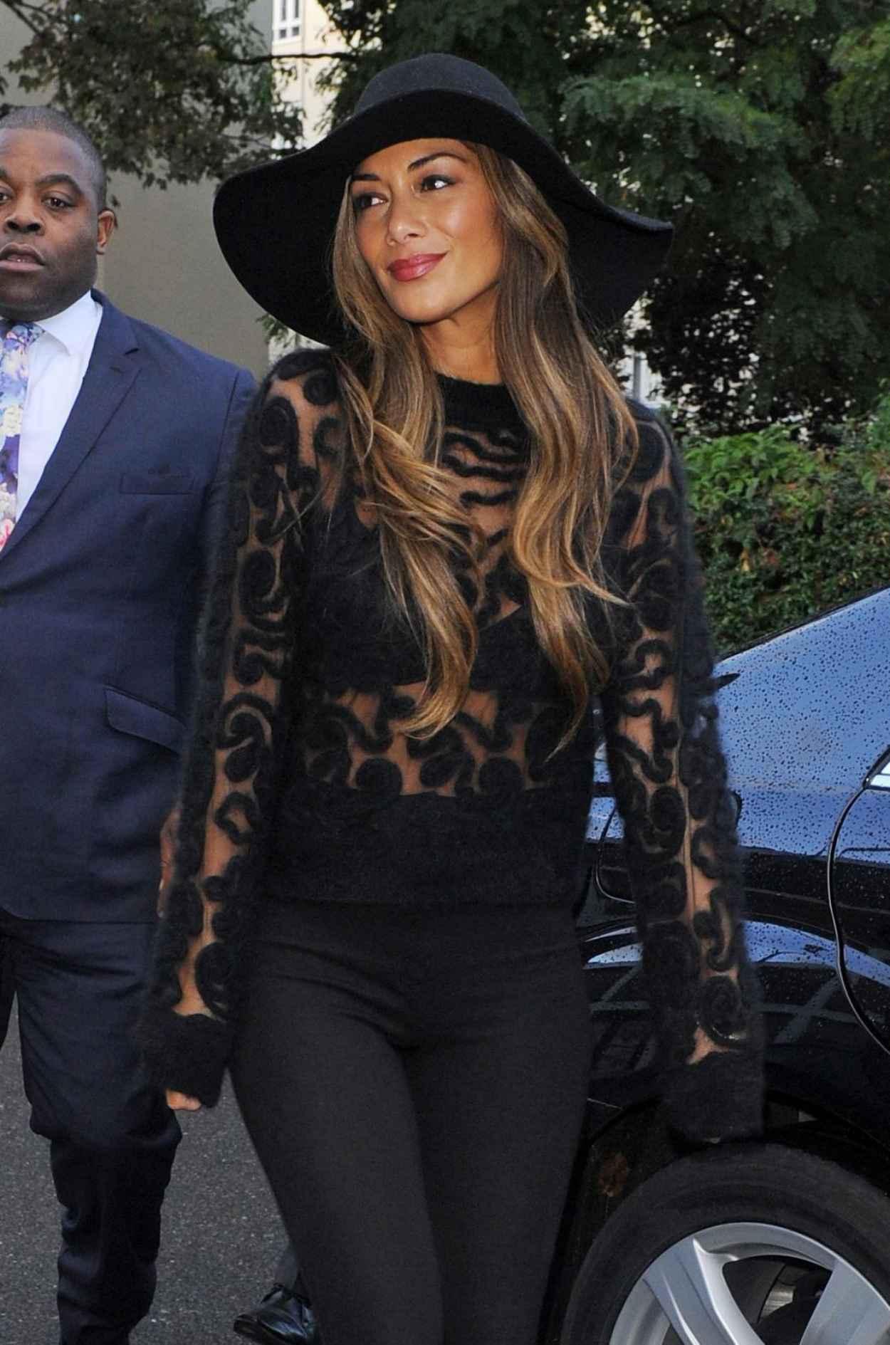 Nicole Scherzinger Street Style - in a Sheer Top-1