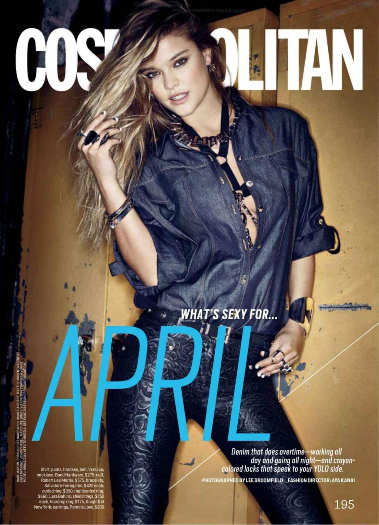 Nina Agdal - Cosmopolitan Magazine (US) - April 2015 Issue-1
