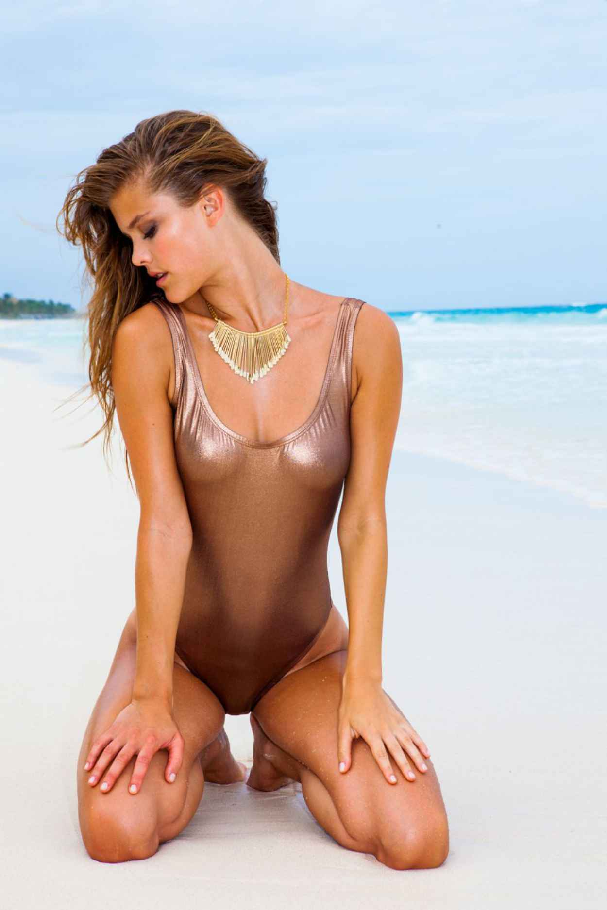 Nina Agdal in a Bikini - Sauvage Swimwear 2015 - 19 High Quality Photos-5
