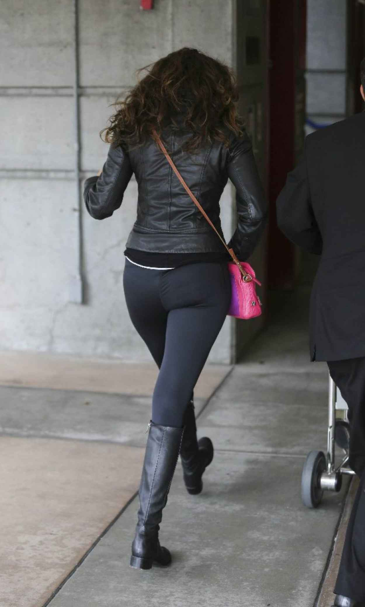 Nina Dobrev - Booty in Tights at LAX Airport - March 2015-1