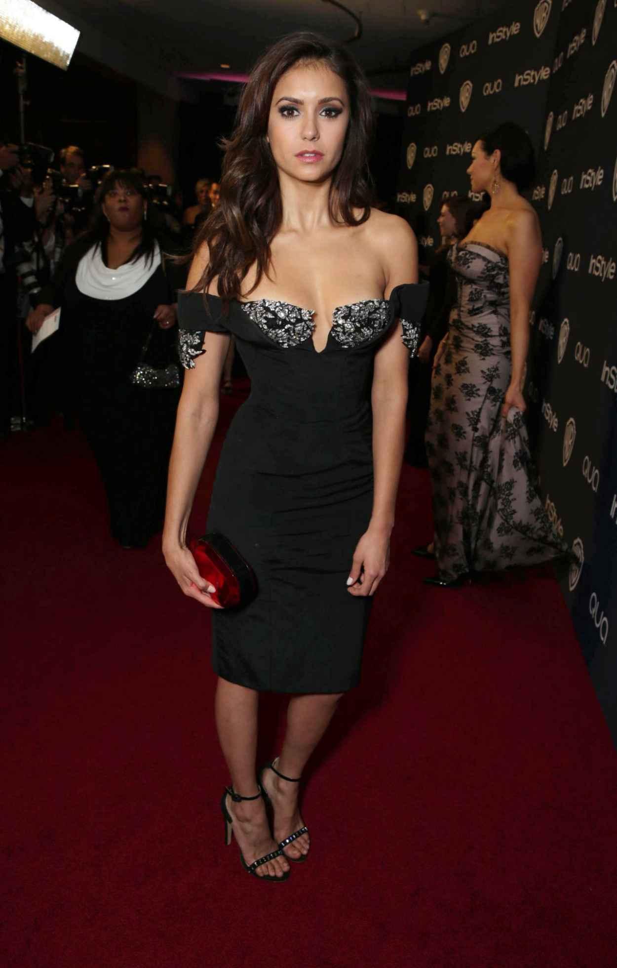Nina Dobrev - InStyle & Warner Bros. 2015 Golden Globes Afterparty-1