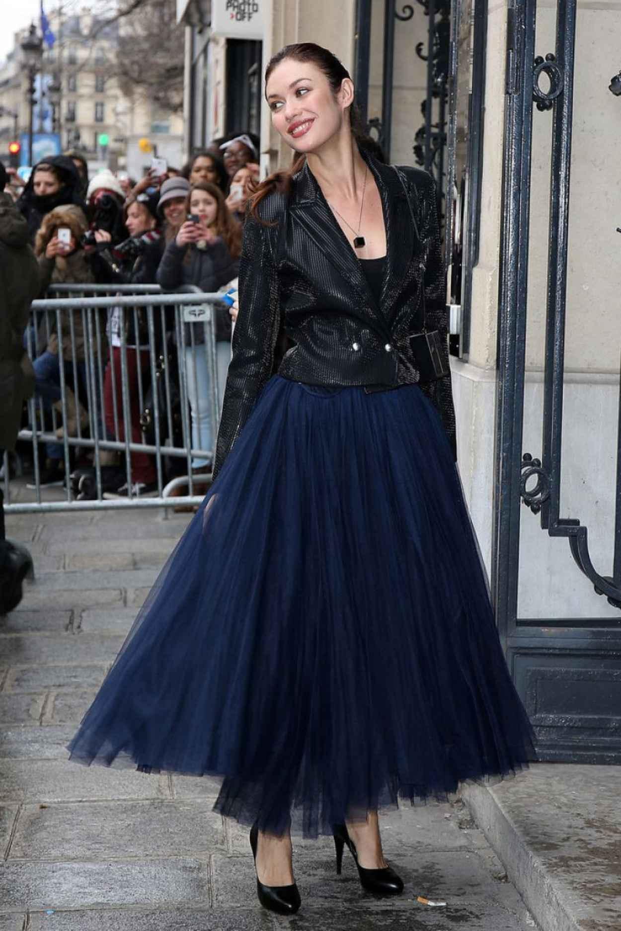 Olga Kurylenko - Jean Paul Gaultier Fashion Show in Paris, January 2015-1