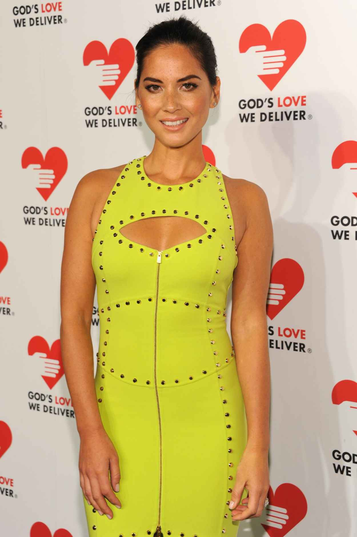 Olivia Munn in Citron Dress - Gods Love We Deliver Golden Heart Awards Celebration in New York City-1