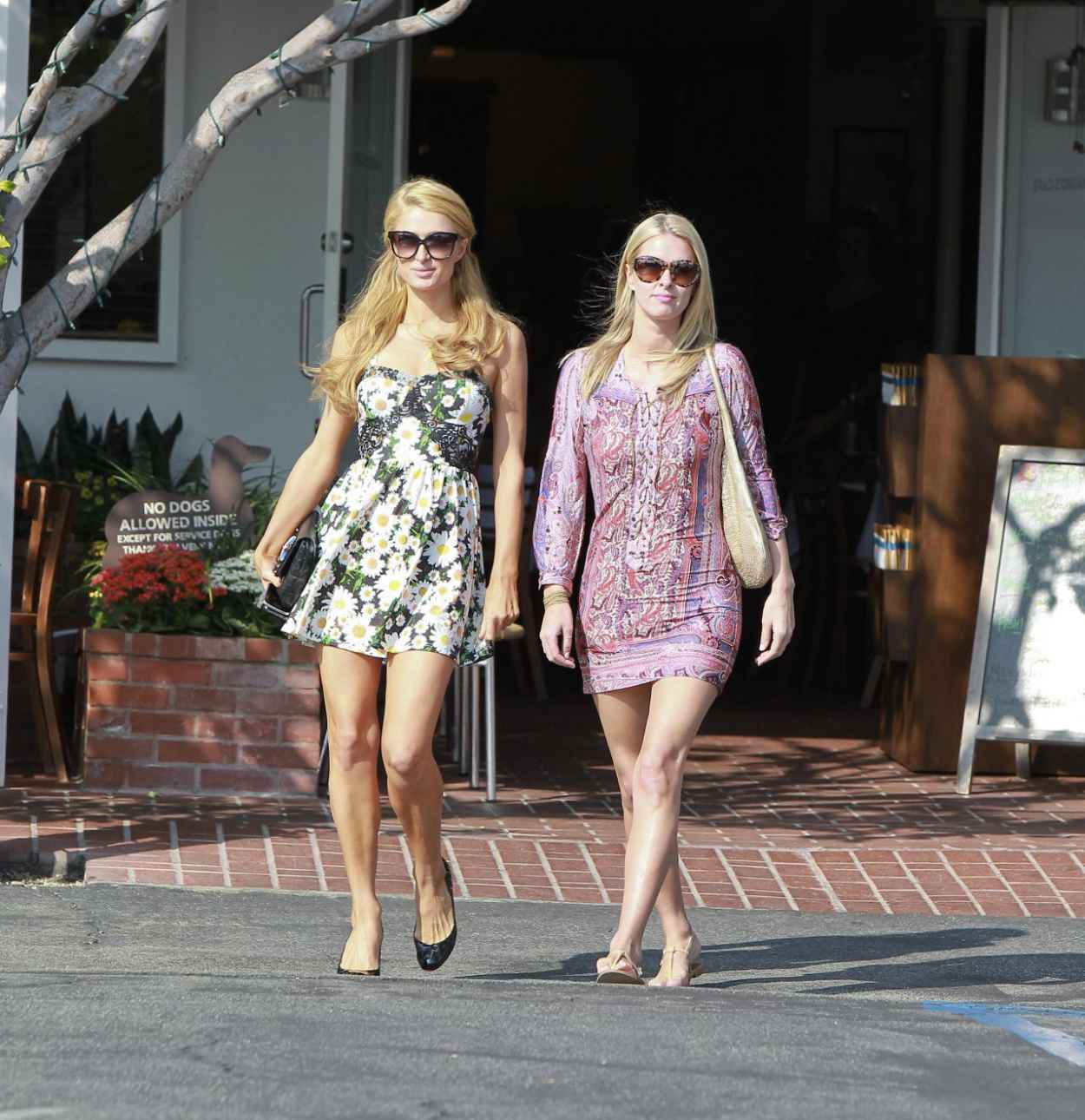 Paris and Nicky Hilton - Grab Lunch Together at Fred Segal in Los Angeles-1