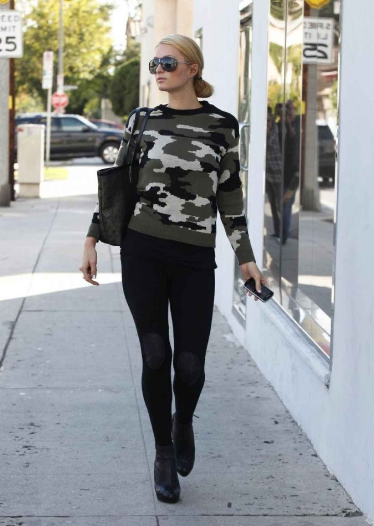 Paris Hilton and Her Ferrari California Spyder - Out in LA-3
