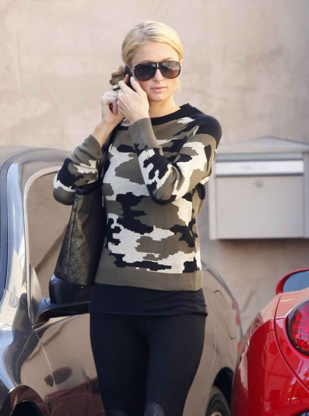 Paris Hilton and Her Ferrari California Spyder - Out in LA-5