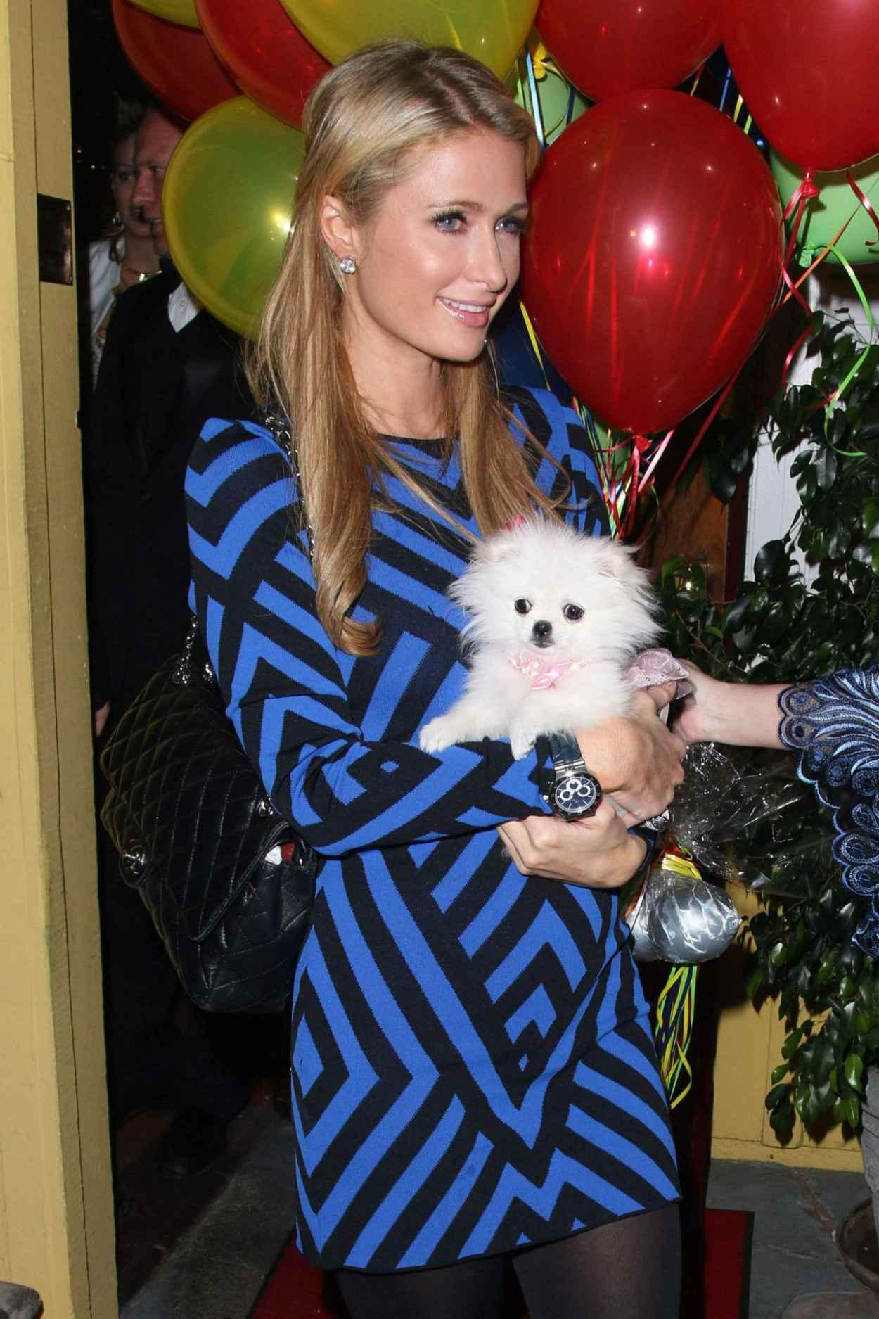 Paris Hilton at Dantanas Restaurant For Celebrating Her Birthday, February 2015-1