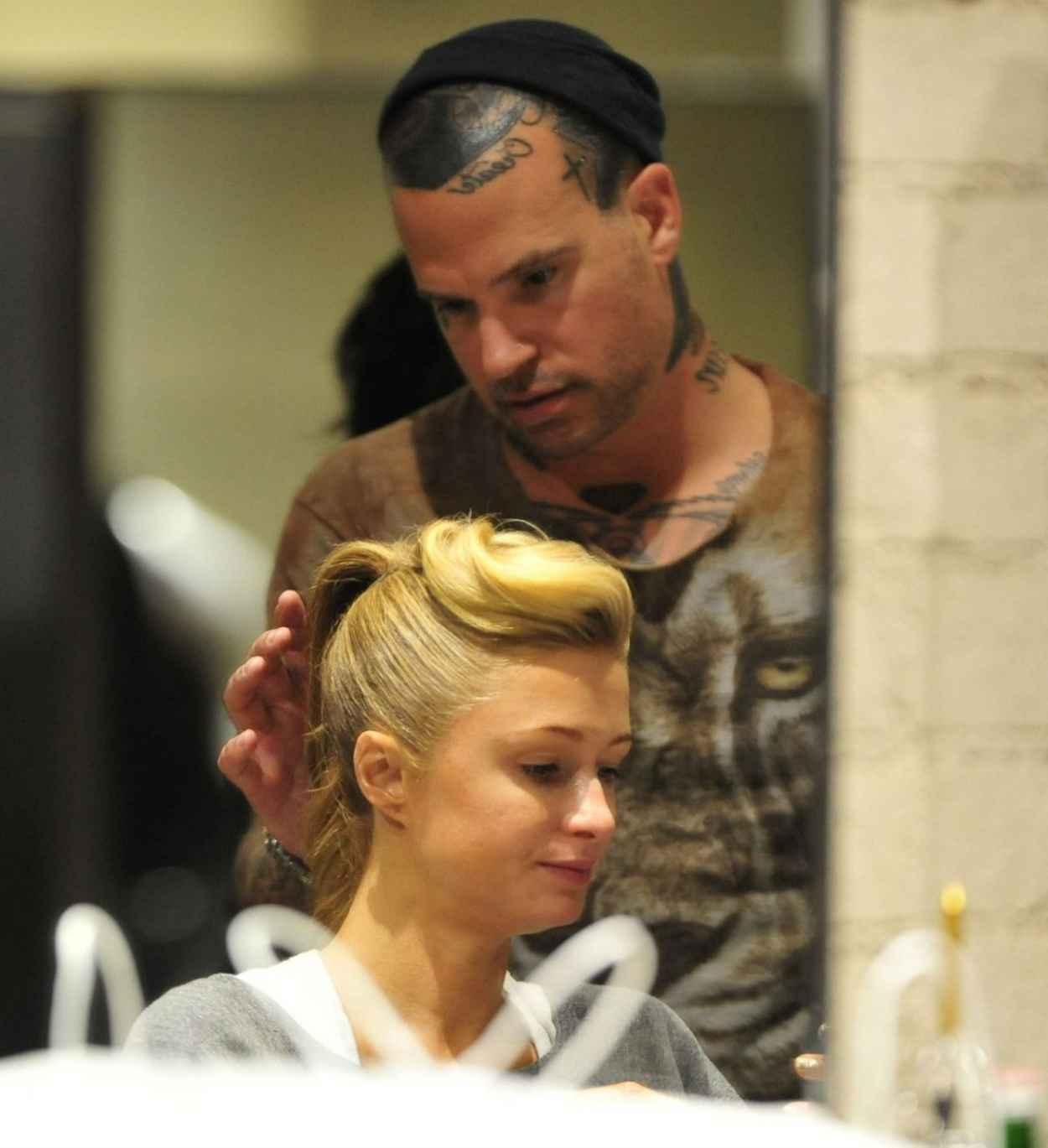 Paris Hilton At Meche Hair Salon In Los Angeles - January 2015-1