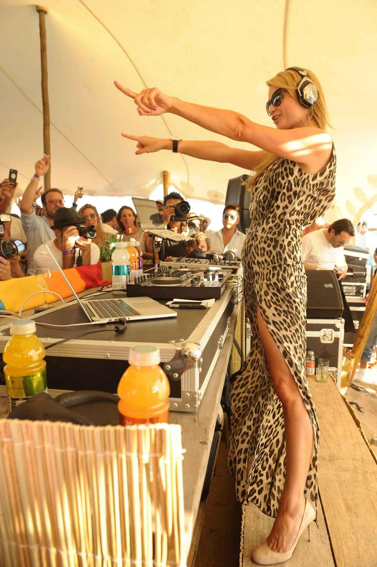 Paris Hilton at Vitaminwater Party - Restaurant La Colacola in Uruguay - January 2015-1