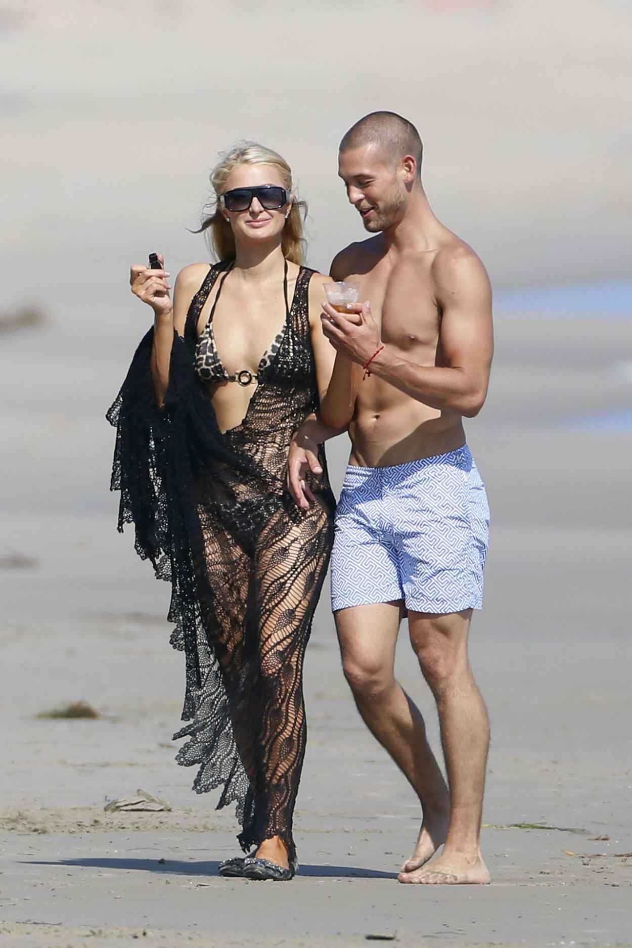 Paris Hilton in a Bikini on the Beach in Malibu - July 2015-3