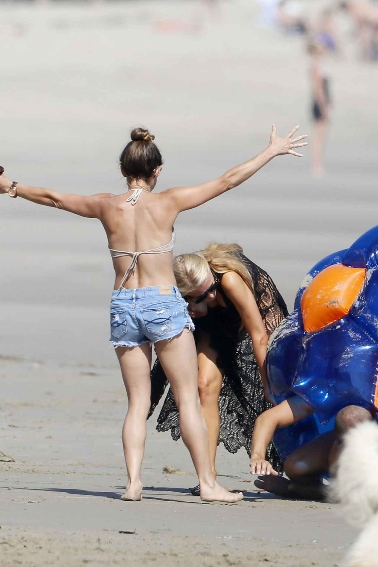 Paris Hilton in a Bikini on the Beach in Malibu - July 2015-4