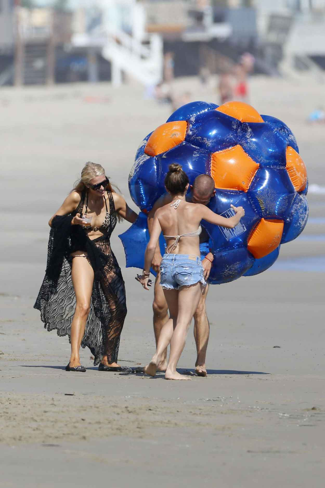 Paris Hilton in a Bikini on the Beach in Malibu - July 2015-5