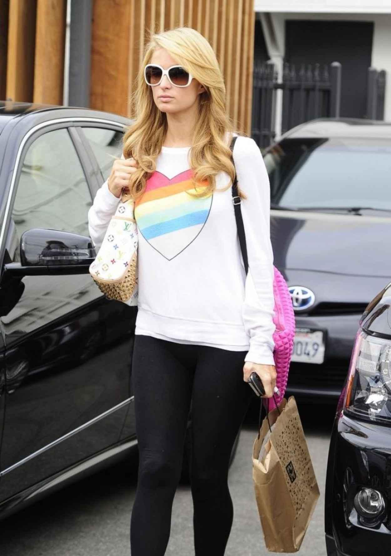 Paris Hilton - Leaving a Hair Salon - Beverly Hills, January 2015-1