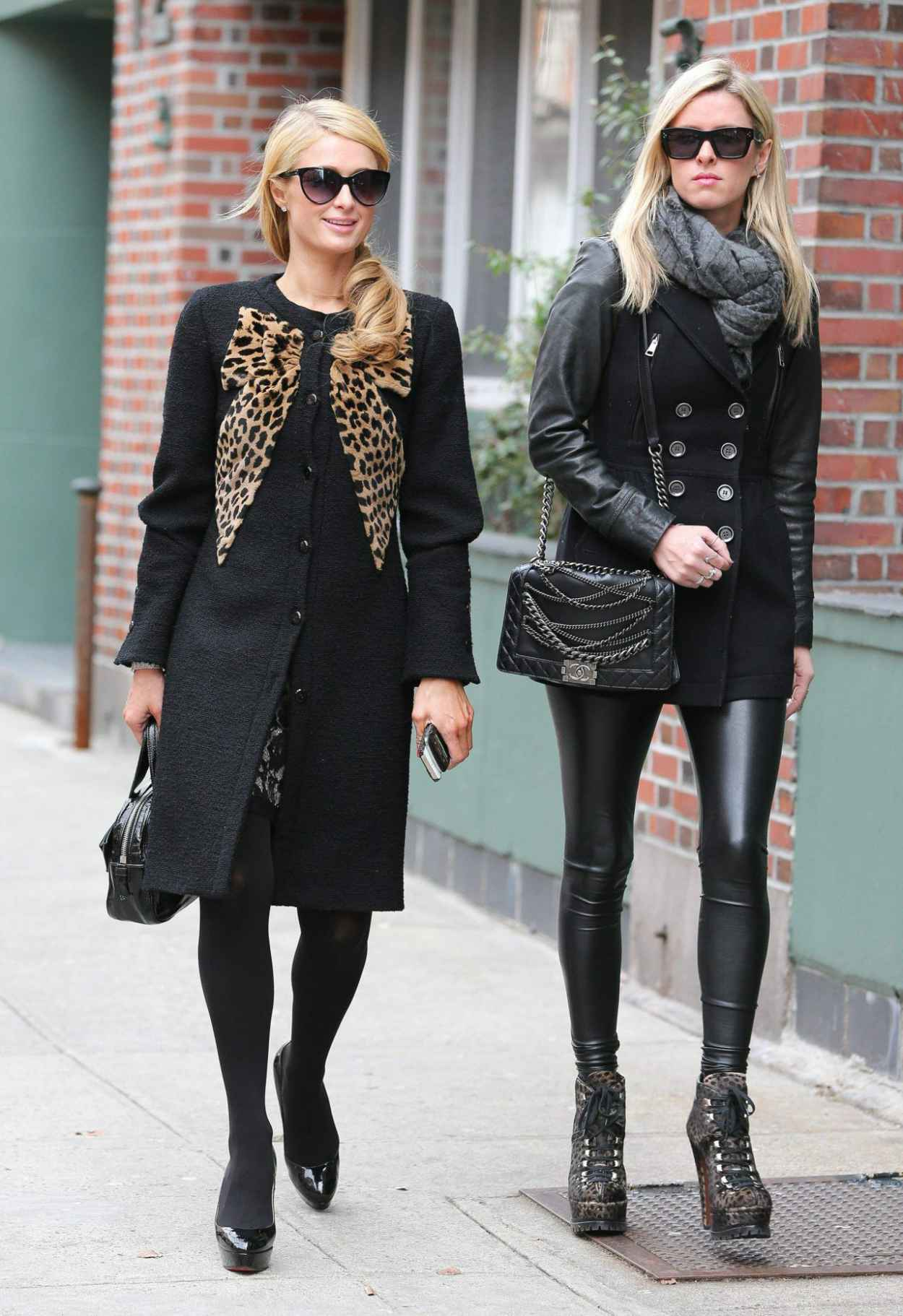 Paris Hilton & Nicky Hilton Street Style - Meat Packing District In NY, January 2015-1