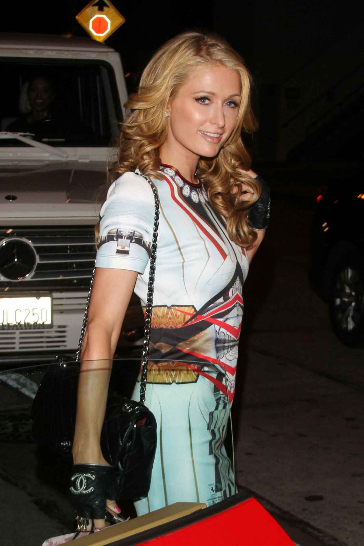 Paris Hilton Night Style - a birthday party at Craigs in West Hollywood - Jan. 2015-1