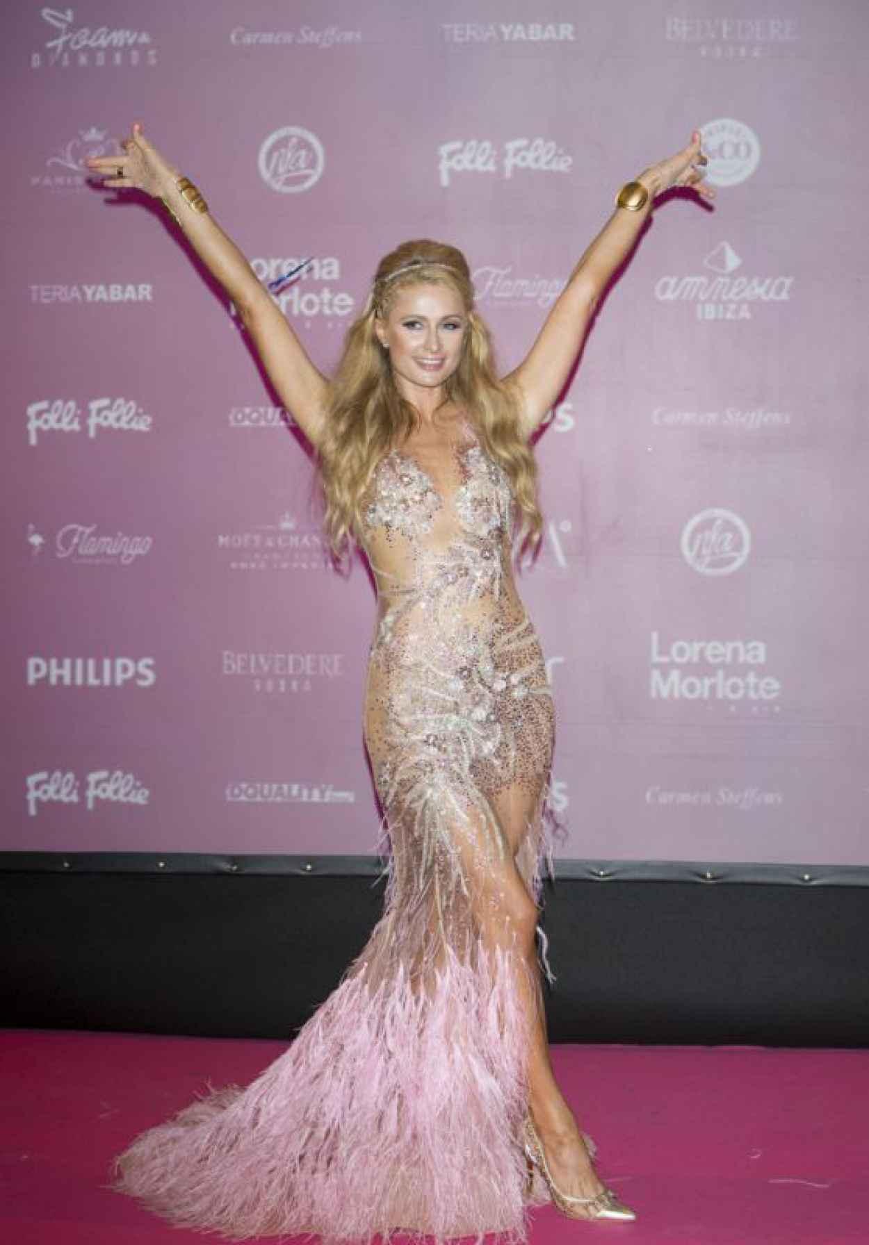 Paris Hilton - Opening Foam and Diamonds Event at Amnesia in Ibiza, July 2015-1