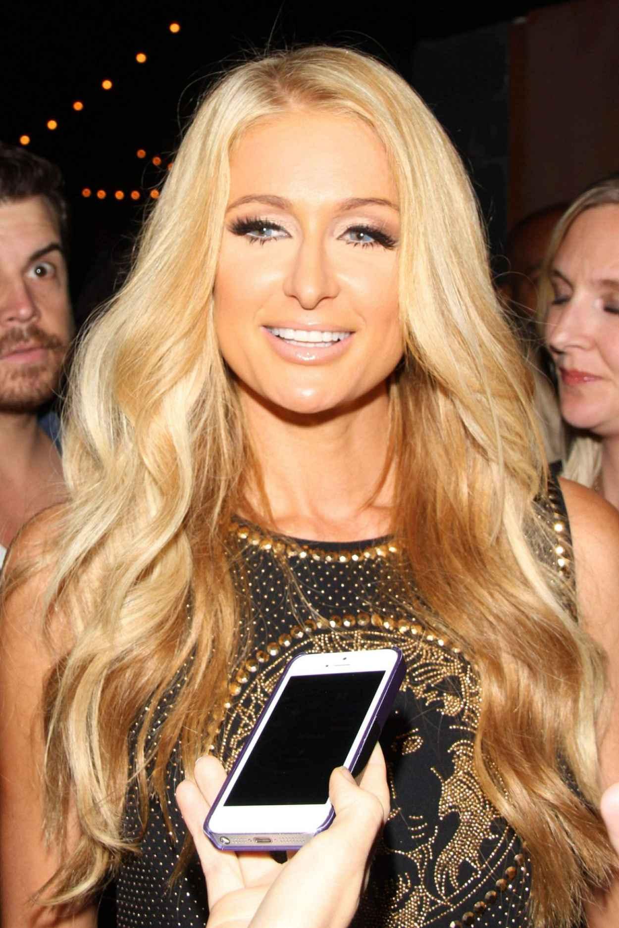 Paris Hilton at Crate Nightclub-1