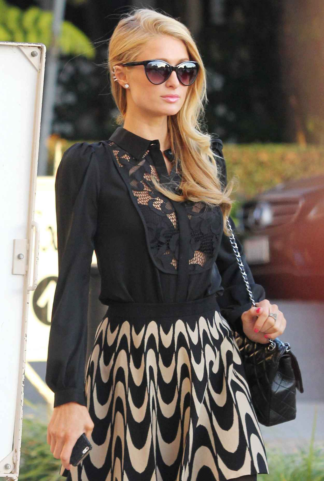 Paris Hilton Street Style - Shopping at Barneys of New York in Beverly Hills-1