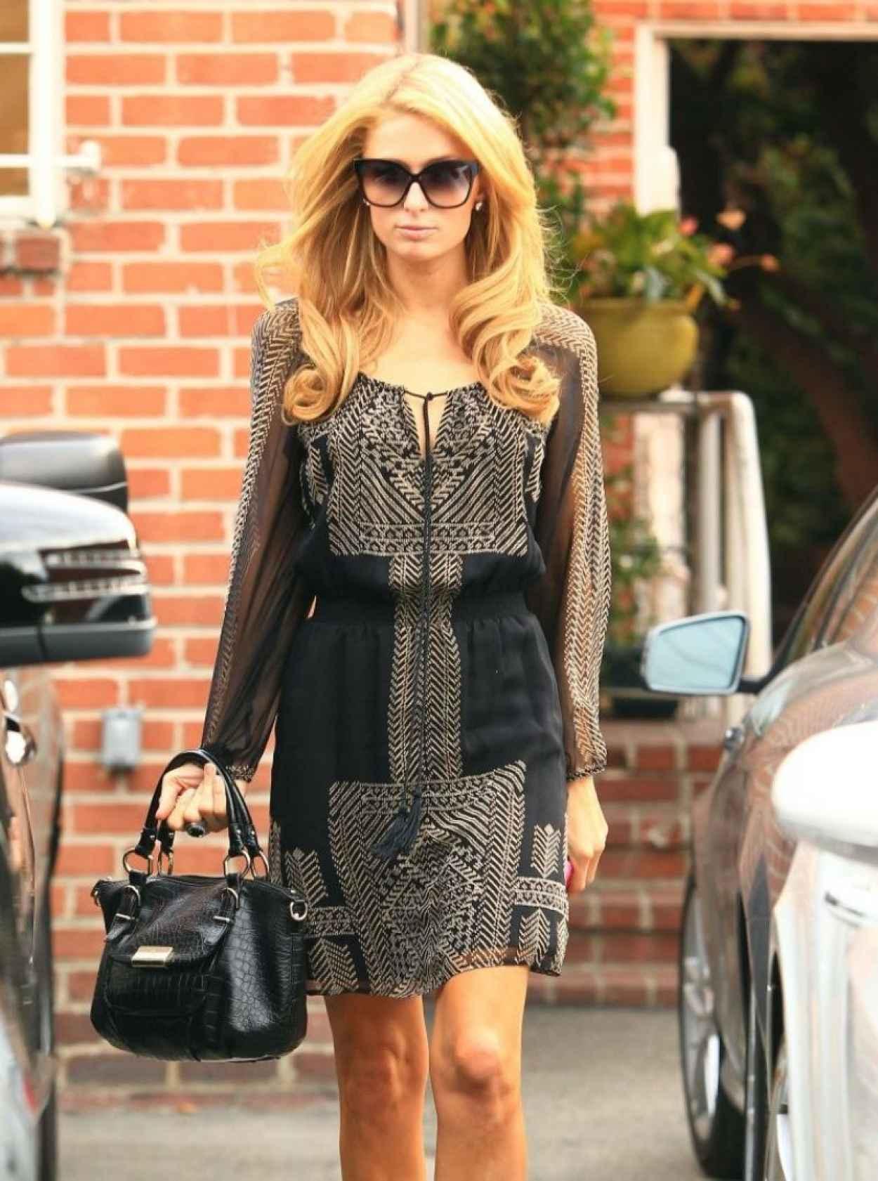 Paris Hilton Street Style - Visits Piny Salon in Beverly Hills-1