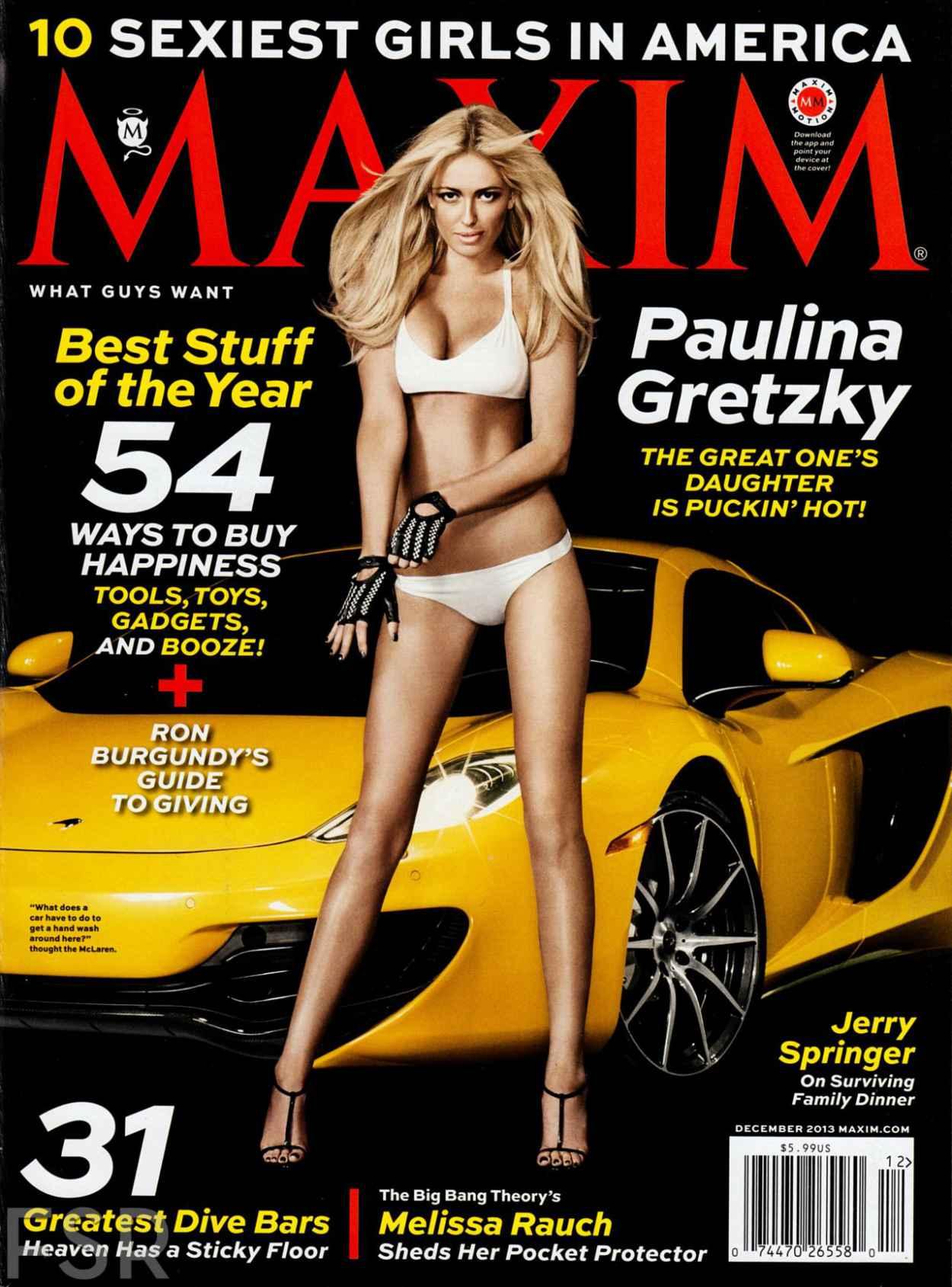 Paulina Gretzky Cover Girl - MAXIM Magazine - December 2015 Issue-1