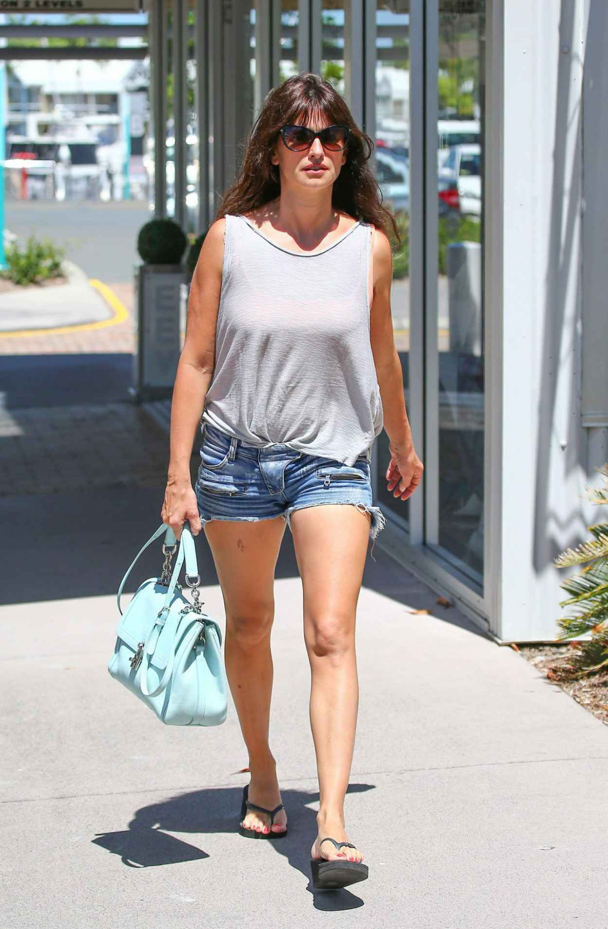 Penelope Cruz in Denim Shorts - Australia, March 2015-1