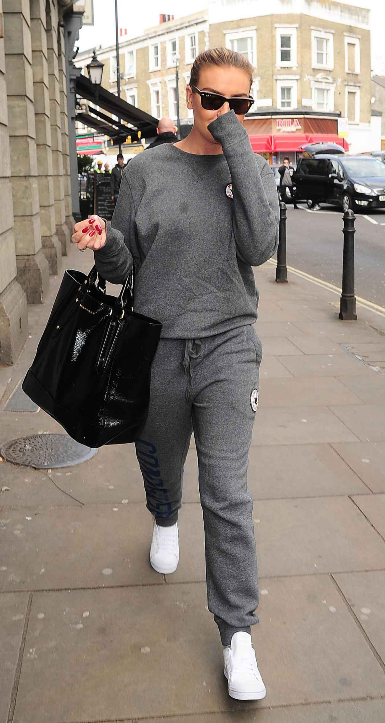 Perrie Edwards - Leaving a Studio in London, April 2015-2