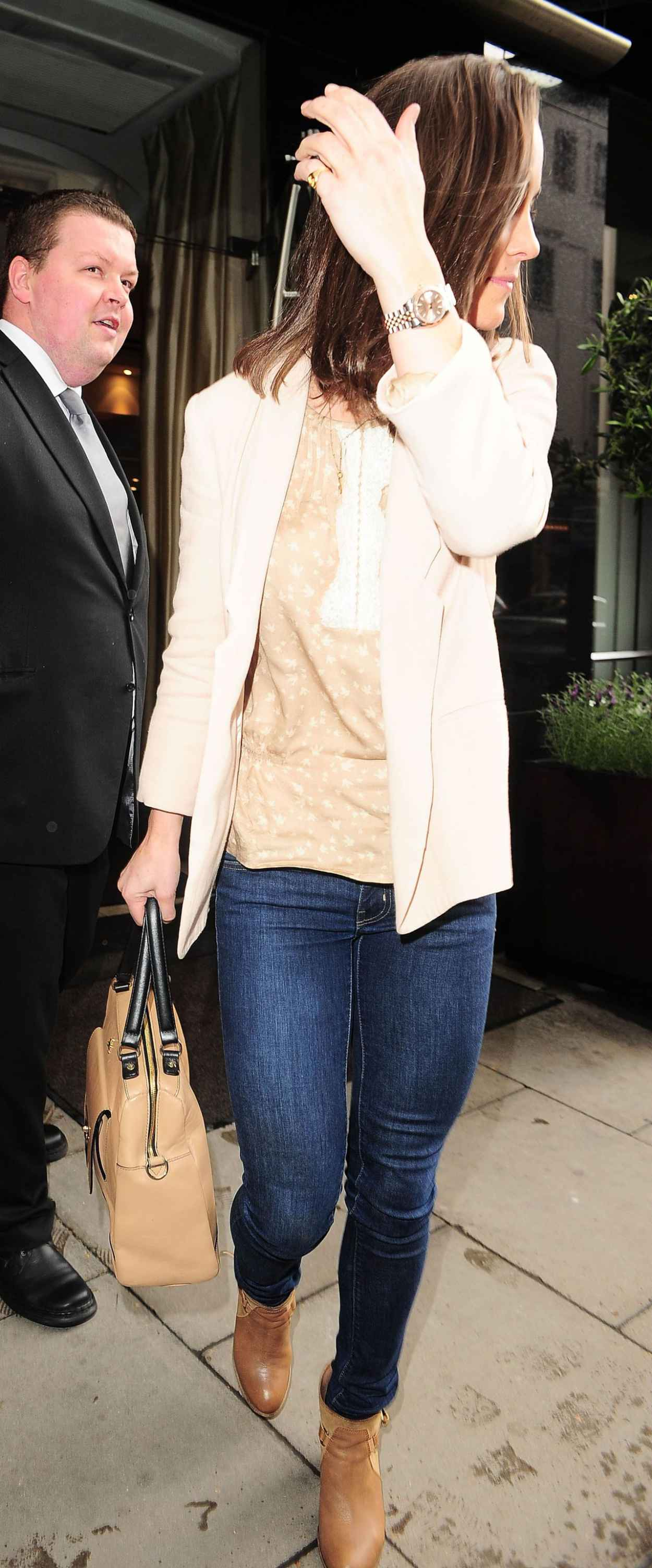 Pippa Middleton in Jeans – Leaving the Square Restaurant in London ...