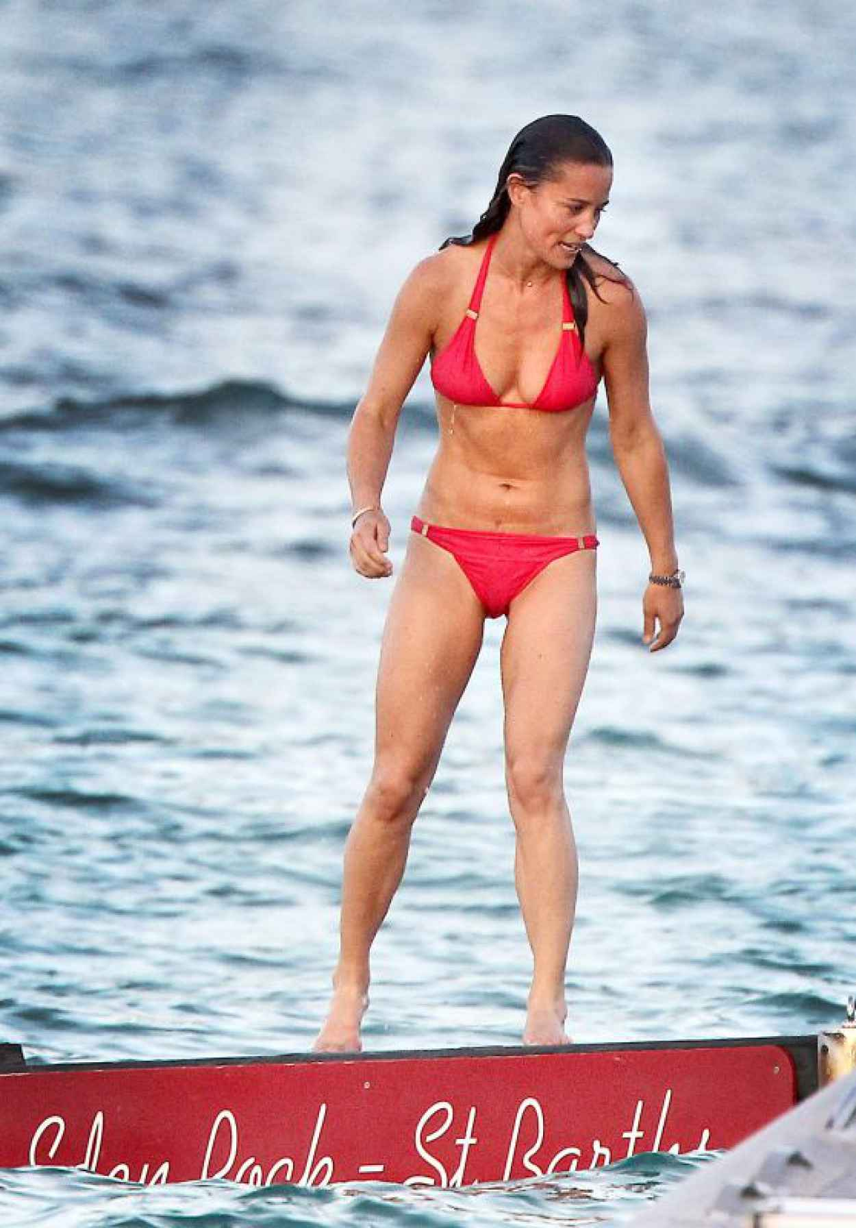 Pippa Middleton in Red Bikini - Out with Friends in St Barths, August 2015-1