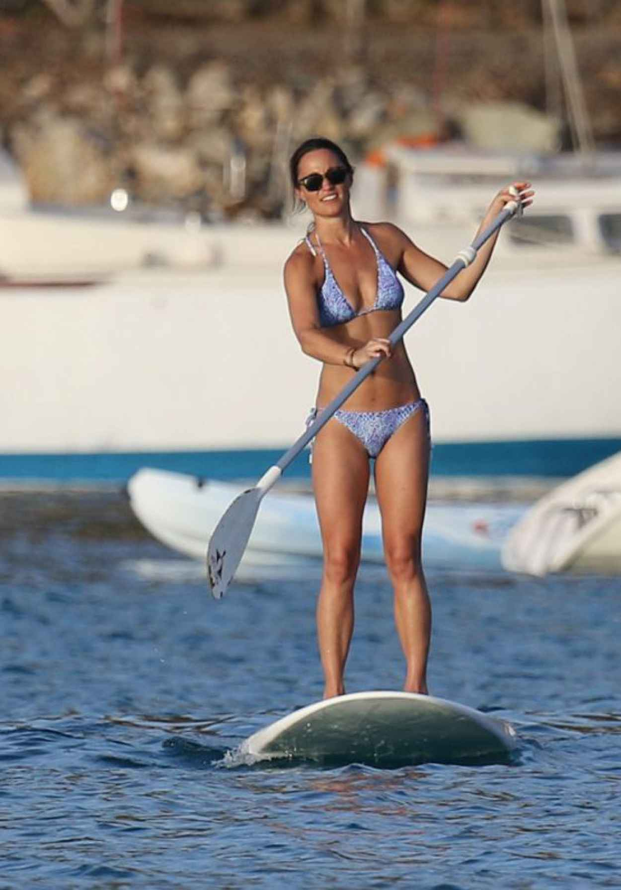 Pippa Middleton - Paddle Boarding in St Barths, August 2015-1