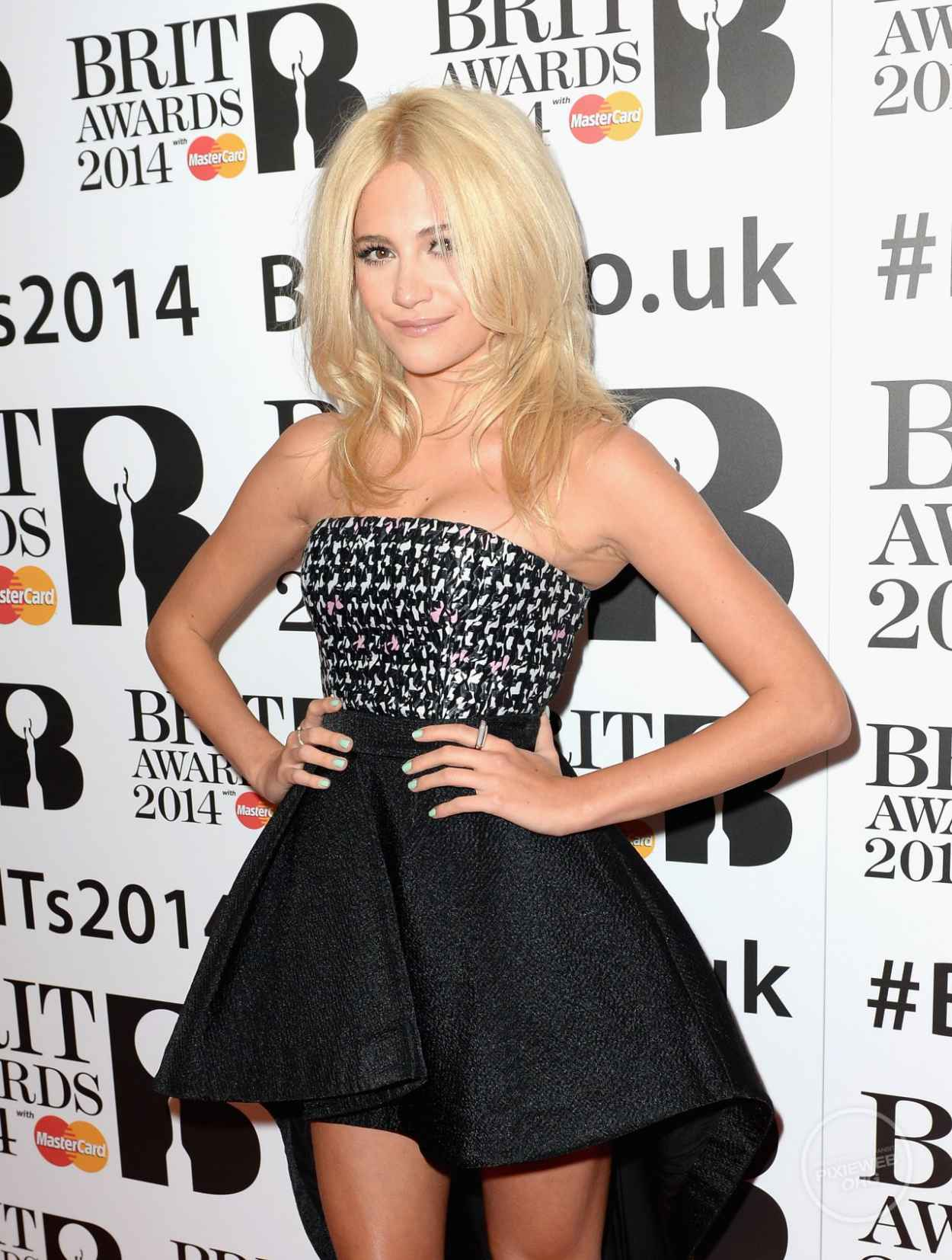 Pixie Lott on Red Carpet - The BRITs Are Coming, January 2015-1