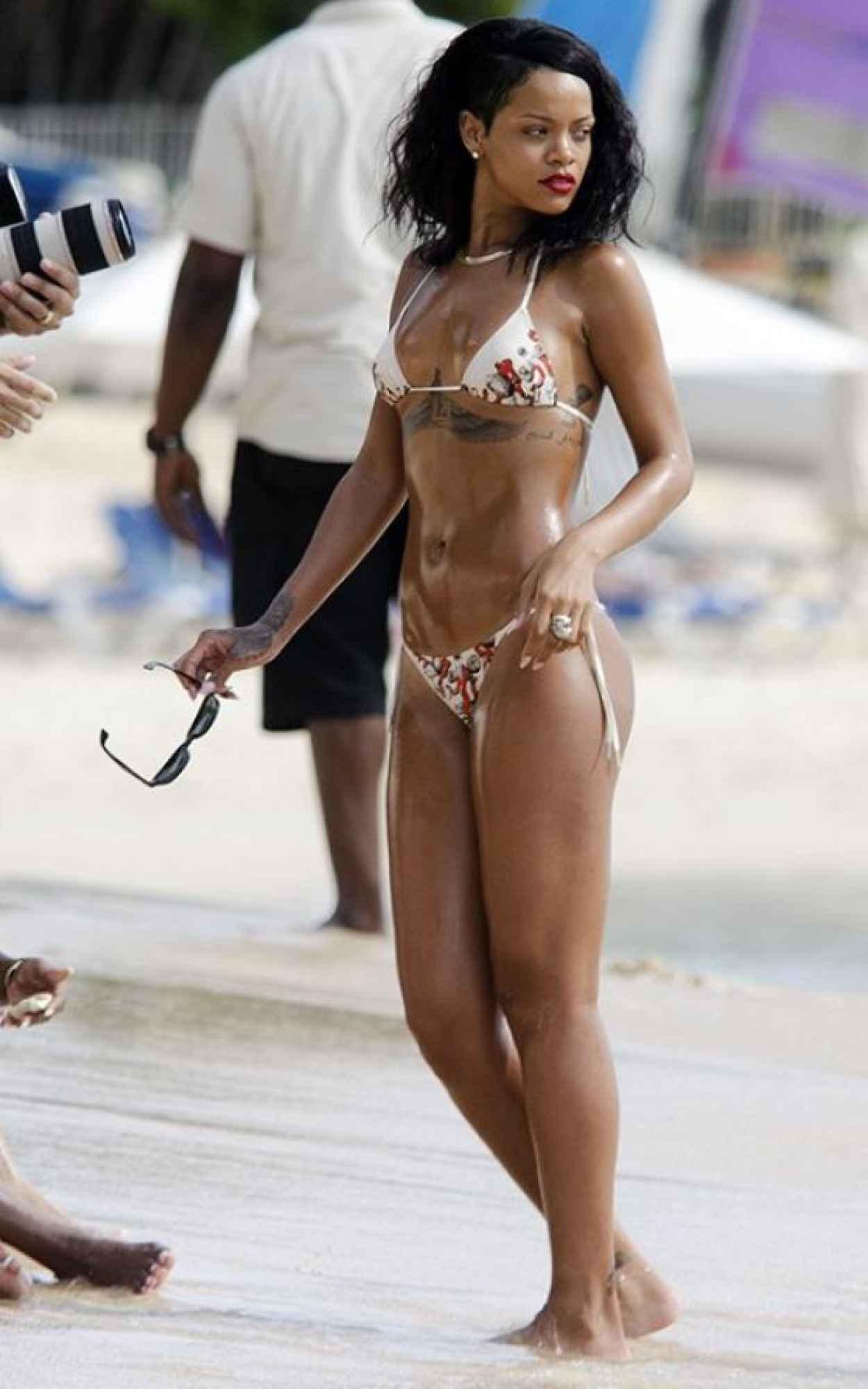 Rihanna in a Bikini at a Beach in Barbados-1