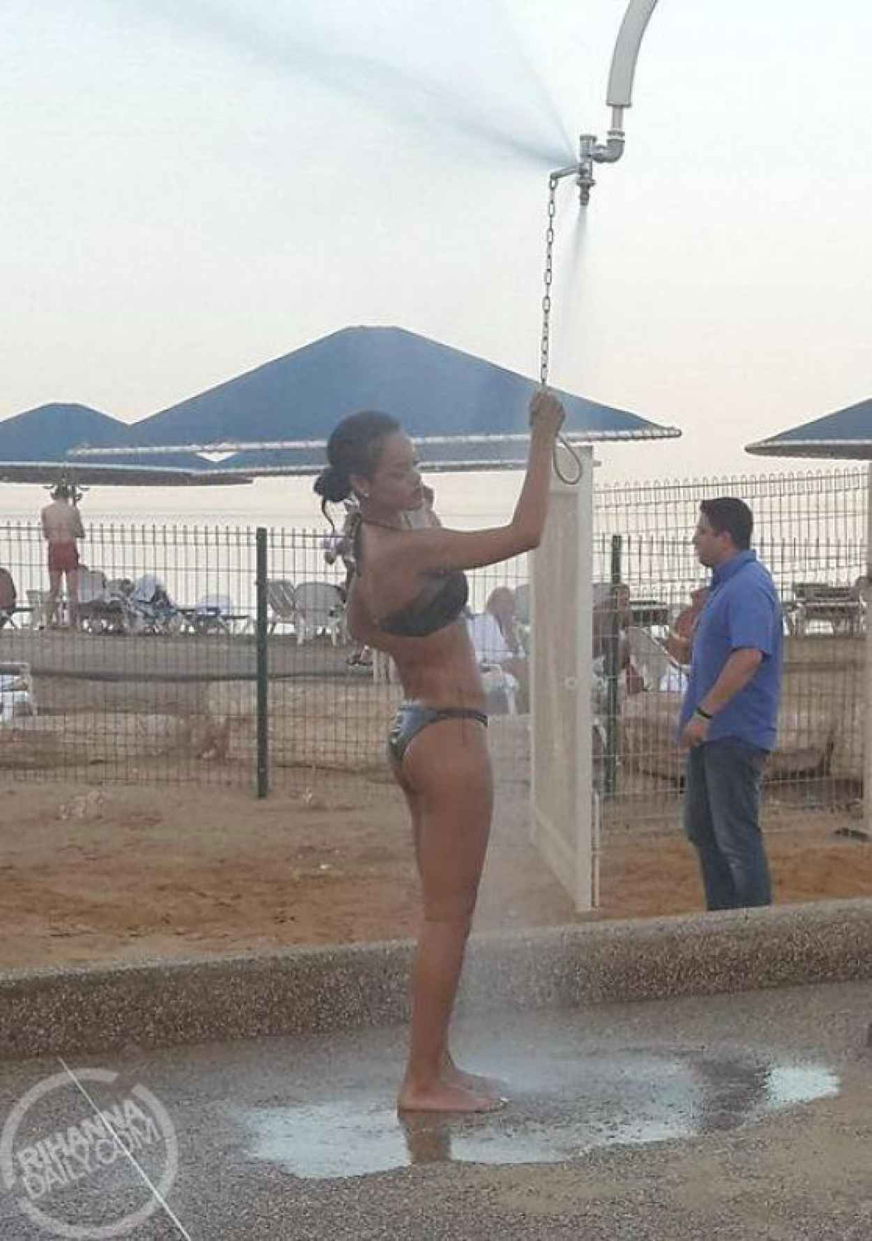 Rihanna in Bikini - Visits the Dead Sea in Israel-5