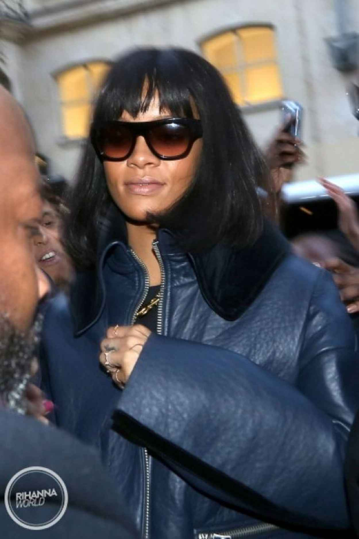 Rihanna in Paris - Spotted Arriving At Her Hotel - February 2015-1