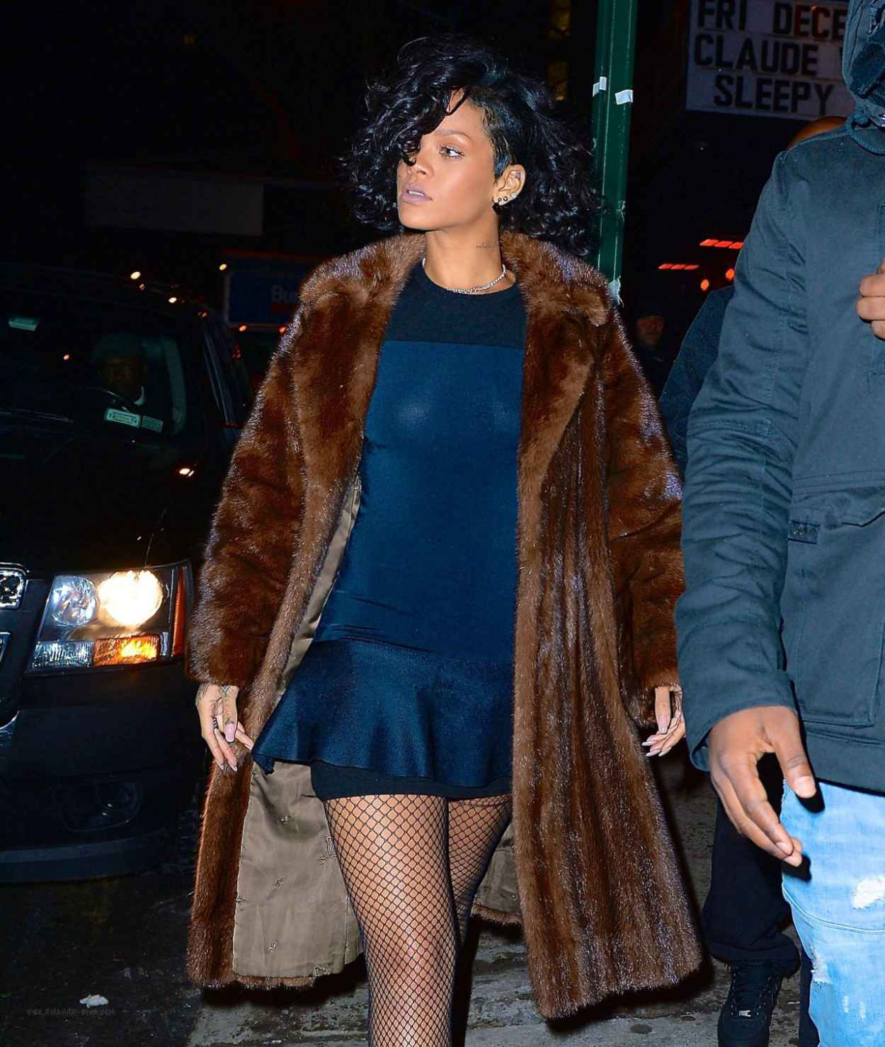 Rihanna Night Out Style - Outside Marquee Nightclub in New York-1