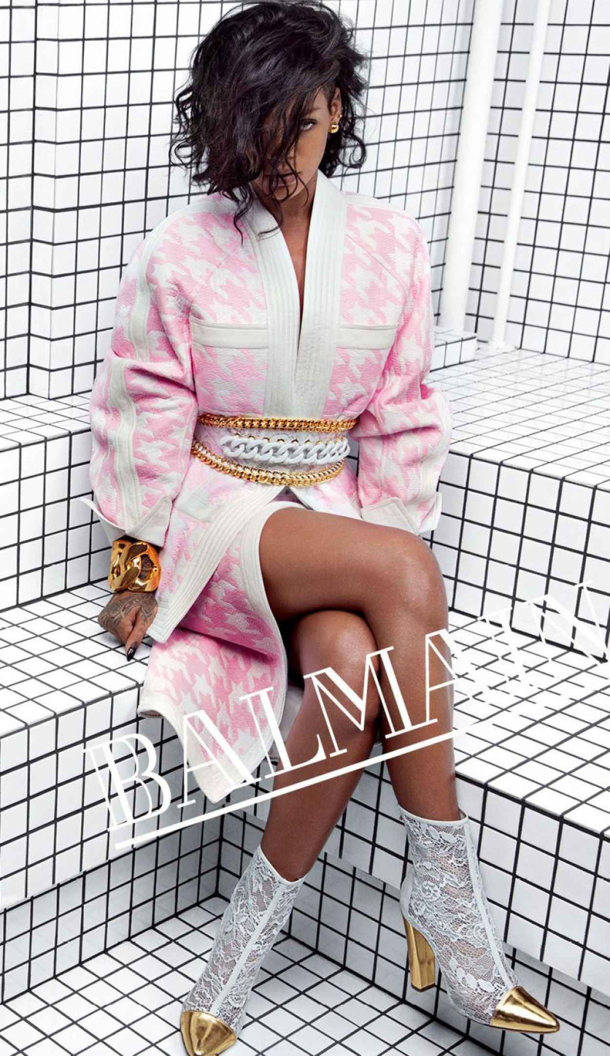 Rihanna Photoshoot by Inez & Vinoodh - Balmain Spring-Summer 2015-2