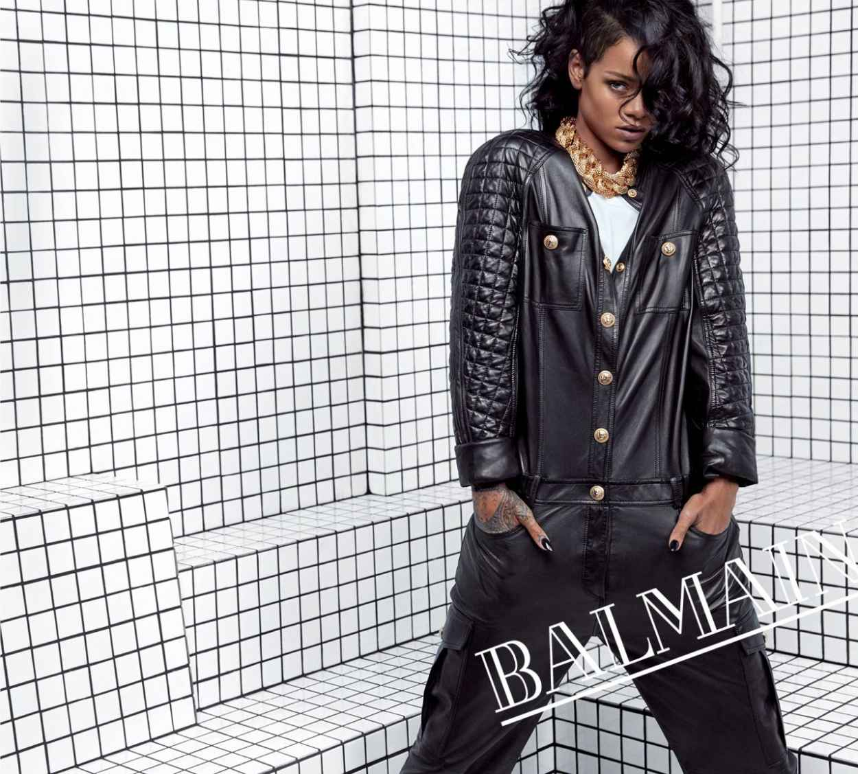 Rihanna Photoshoot by Inez & Vinoodh - Balmain Spring-Summer 2015-3