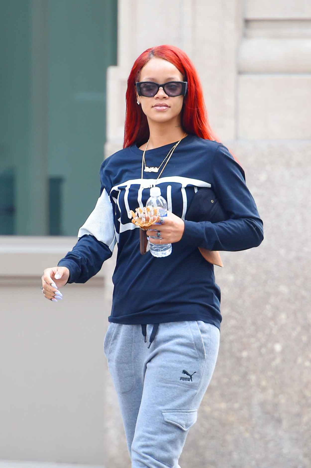 Rihanna Street Style Out In New York City May 2015