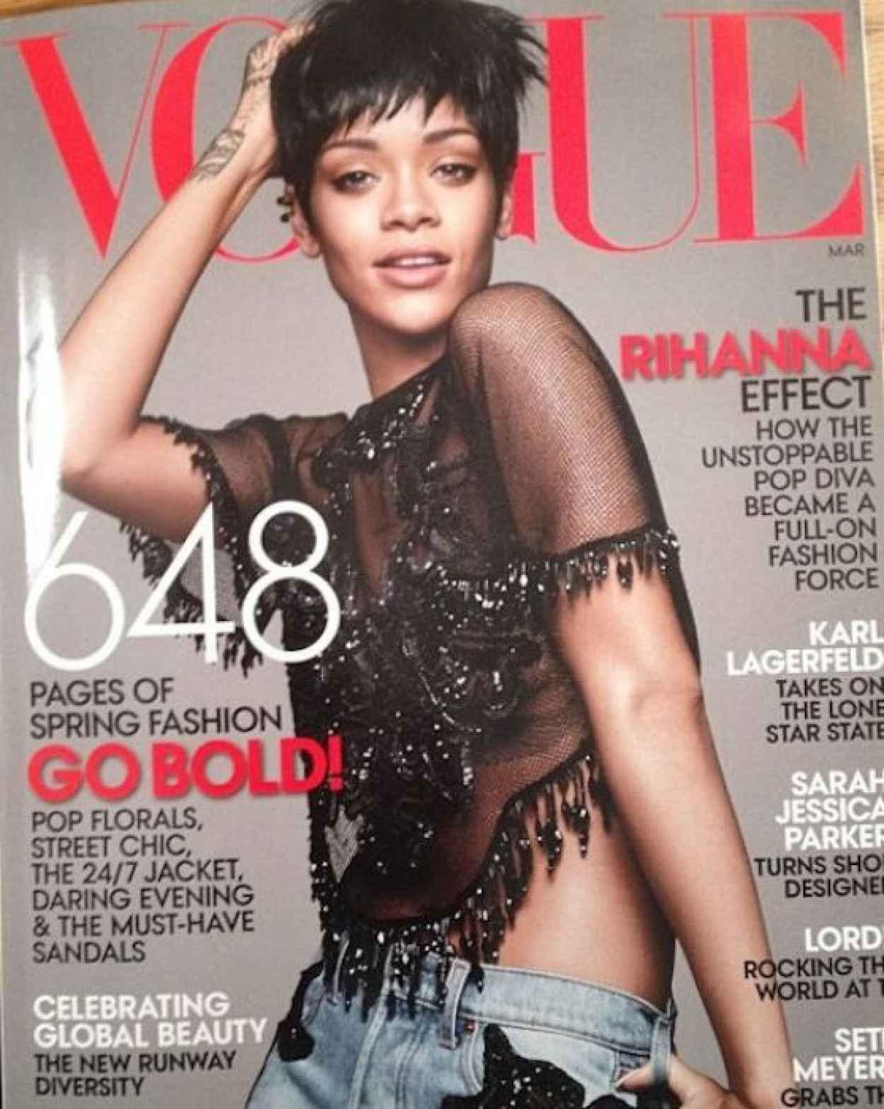 Rihanna - VOGUE Magazine (USA) - March 2015 Issue-1