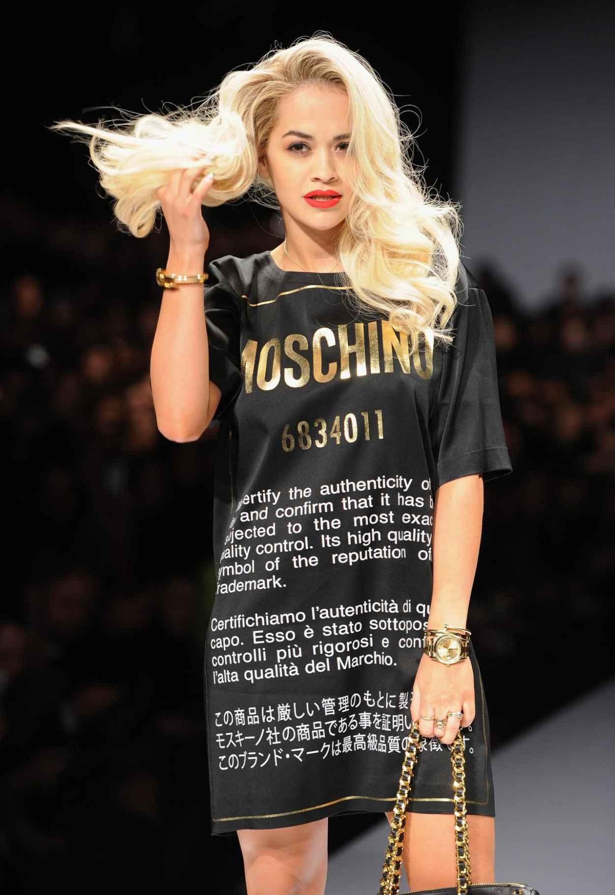 Rita Ora - Moschino Show - Milan Fashion Week, February 2015-1