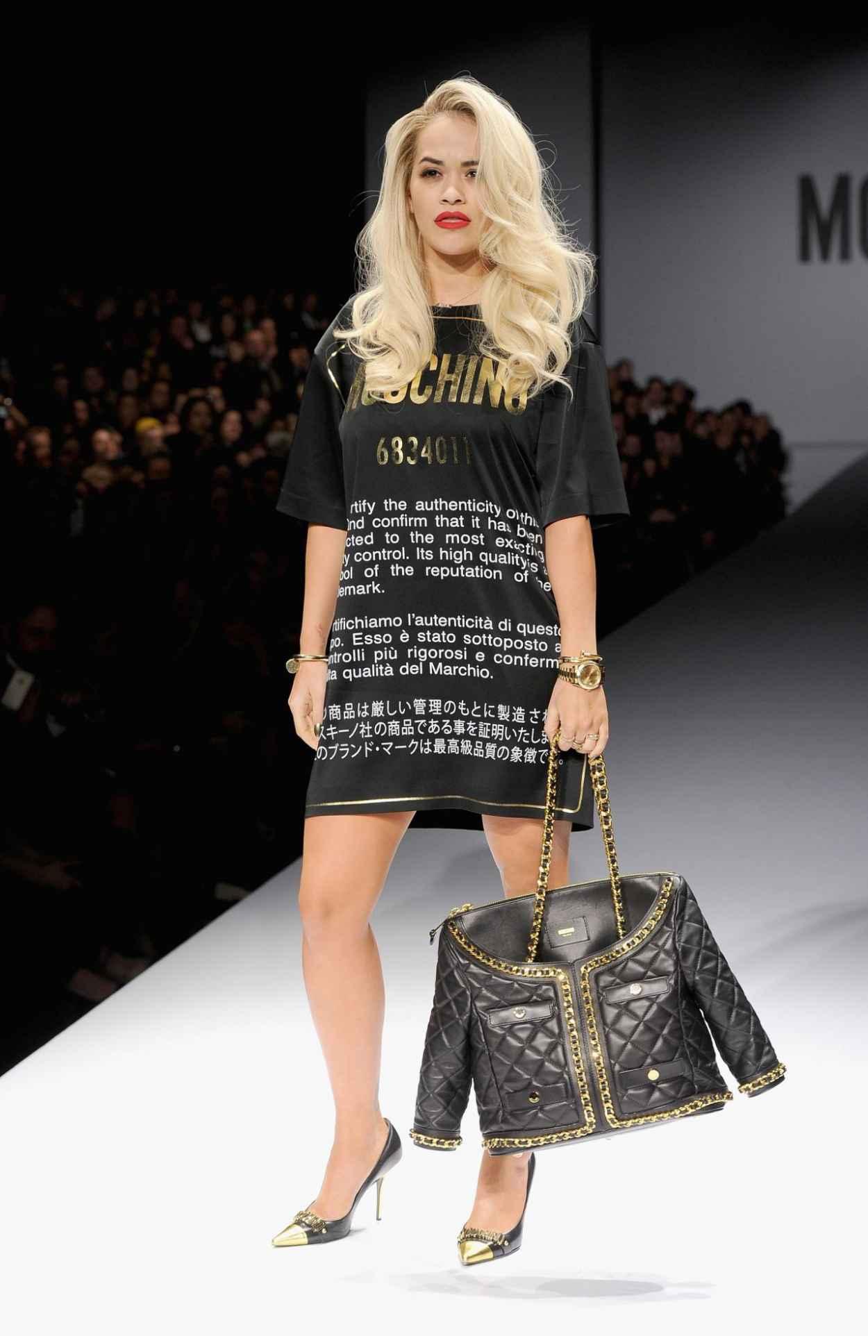 Rita Ora - Moschino Show - Milan Fashion Week, February 2015-5