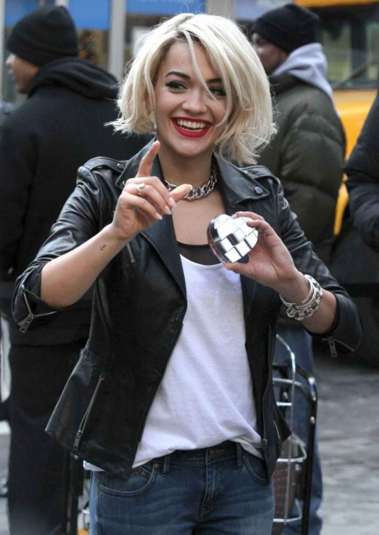 Rita Ora - On set of a DKNY Photoshoot in New York City - Dec. 2015-1