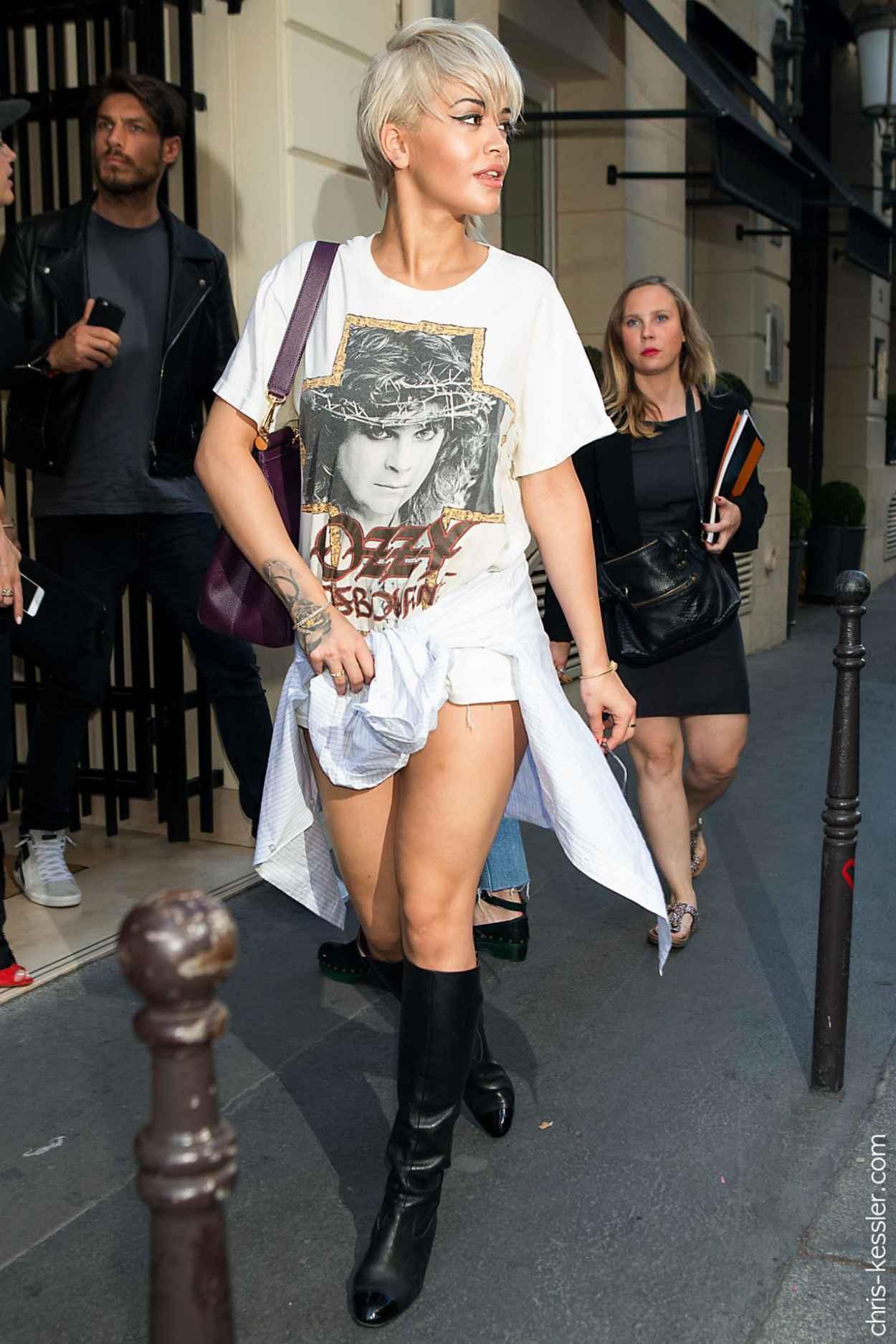 Rita Ora Street Fashion - Out in Paris, July 2015-3