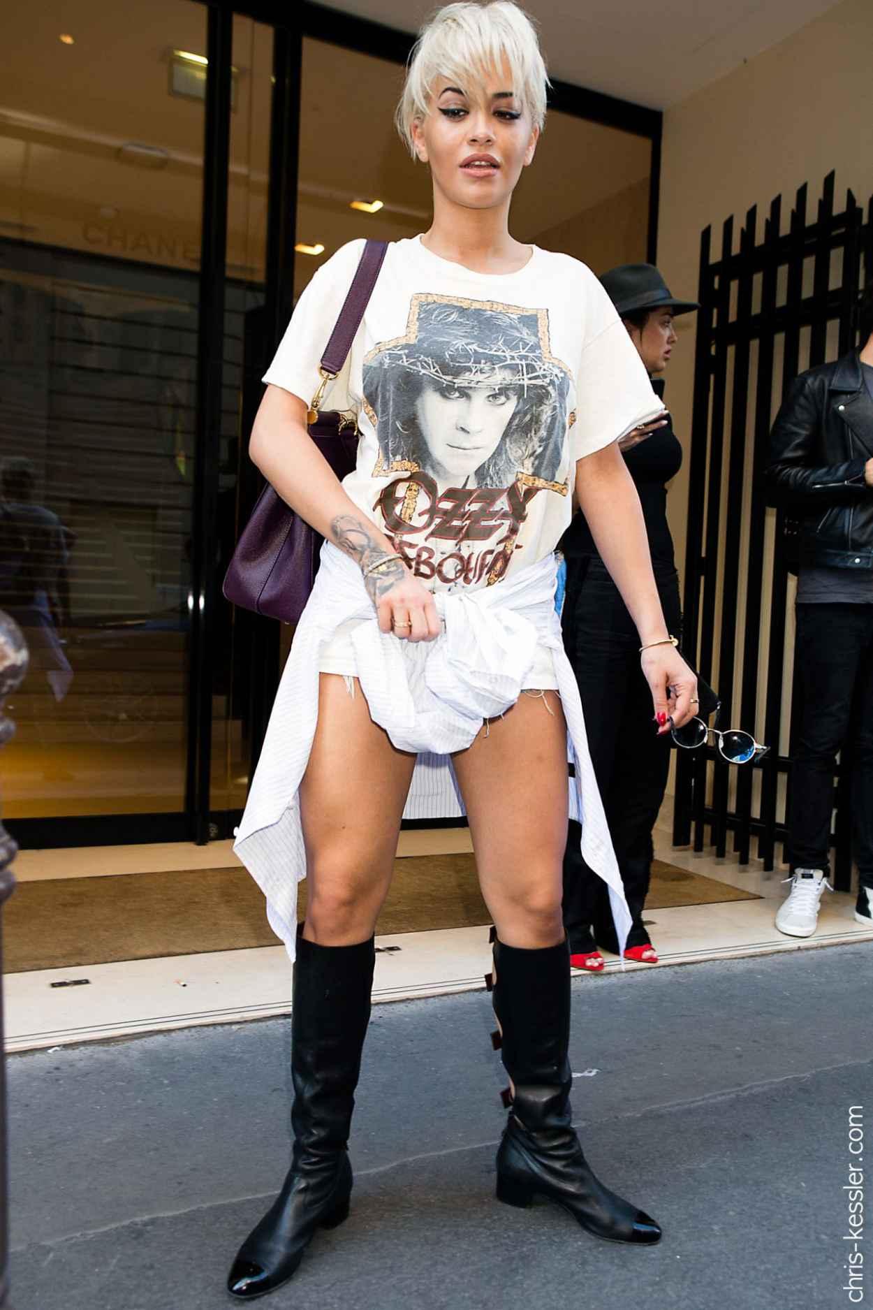 Rita Ora Street Fashion - Out in Paris, July 2015-4
