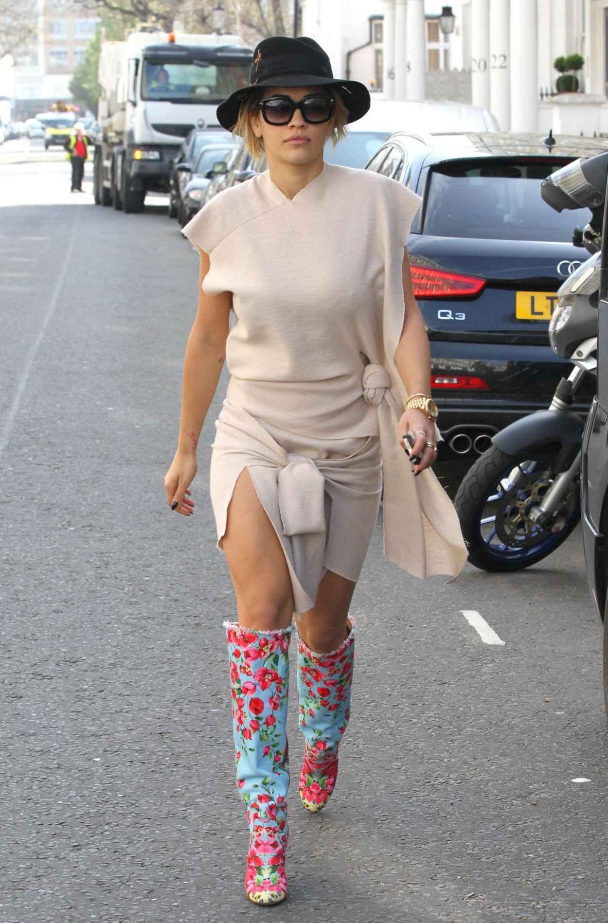 Rita Ora Street Style - Out in London - April 2015-1
