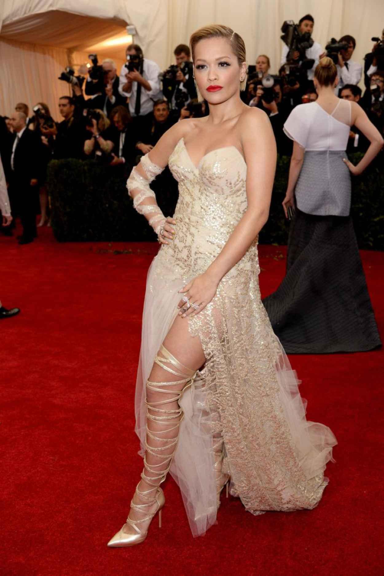 Rita Ora Wearing Donna Karan Atelier Gown - 2015 Met Costume Institute Gala-1
